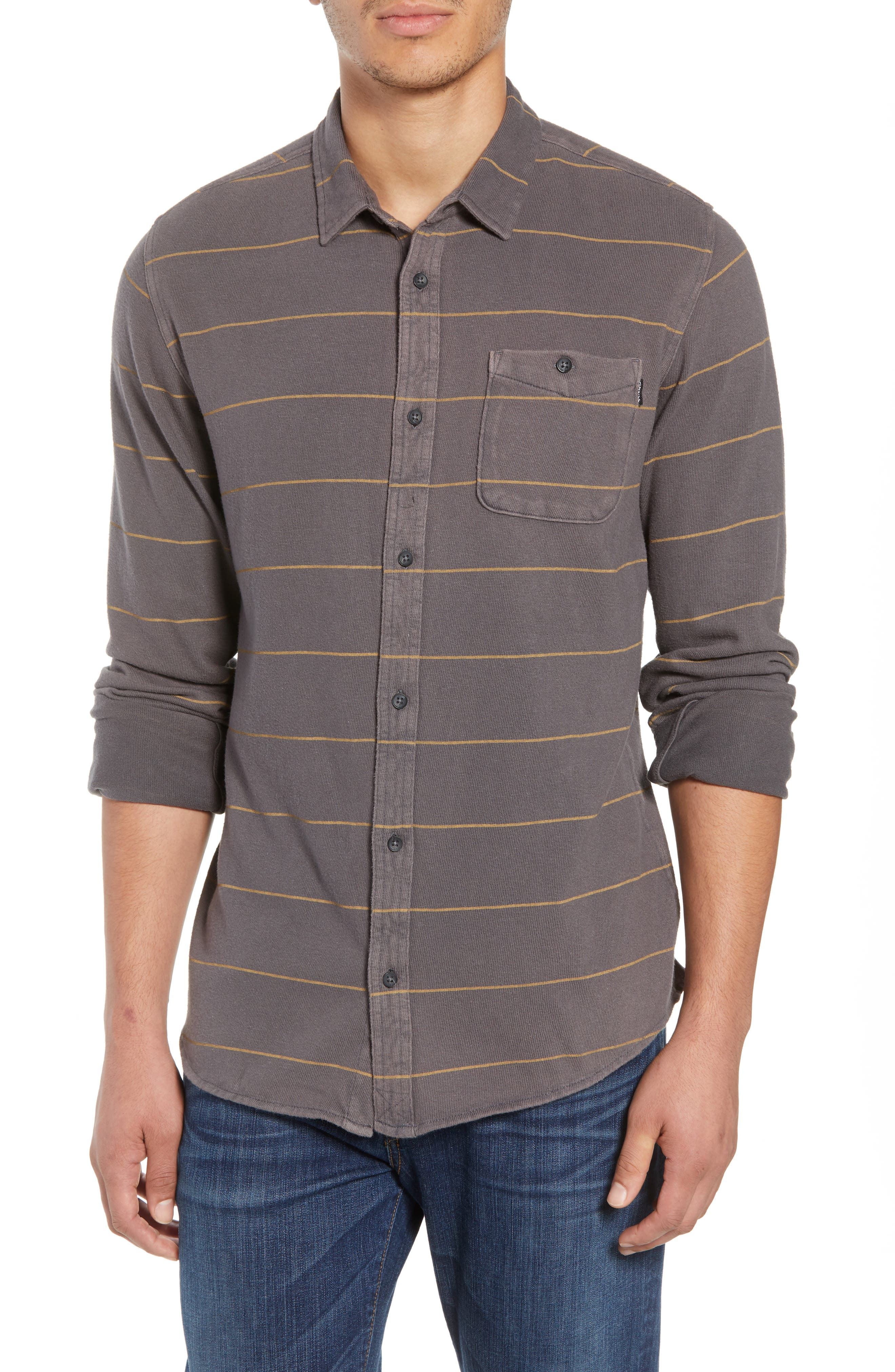 Cowell Knit Button-Up Shirt,                             Main thumbnail 1, color,                             020