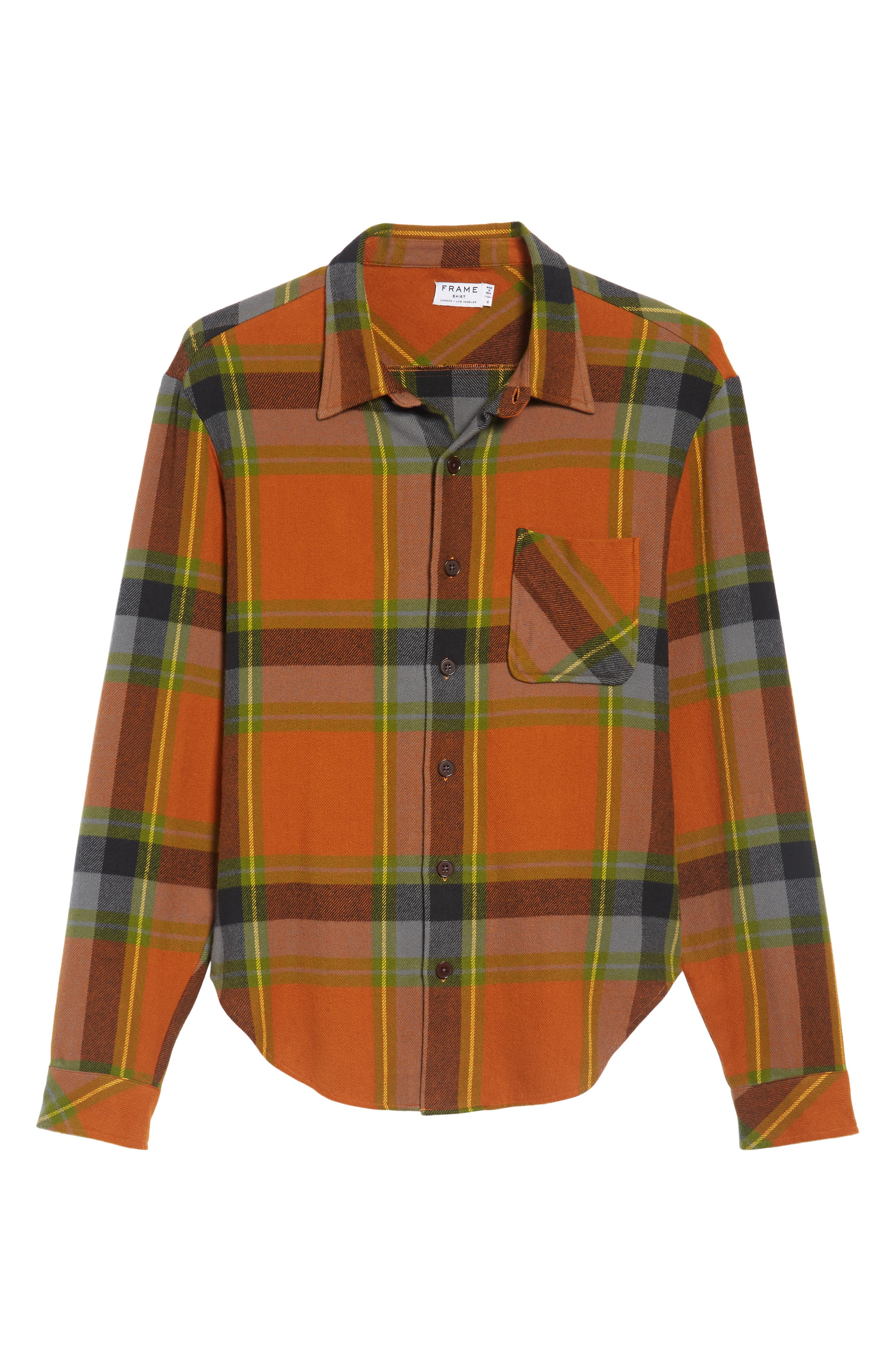 Denim Regular Fit Check Sport Shirt,                             Alternate thumbnail 6, color,                             840