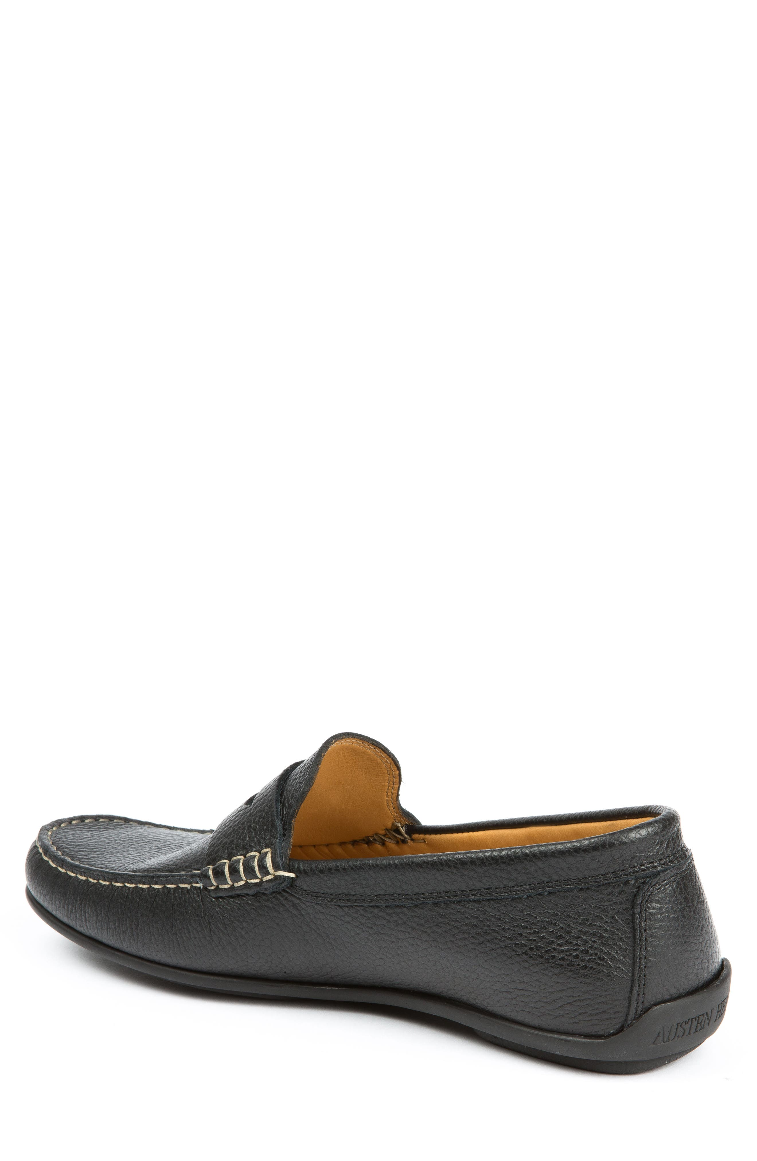 Hudsons Driving Shoe,                             Alternate thumbnail 2, color,                             BLACK GRAIN
