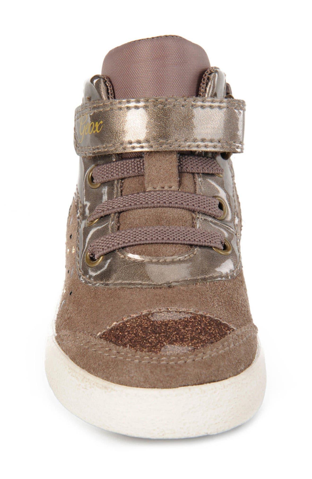 Kiwi Girl Studded High Top Sneaker,                             Alternate thumbnail 12, color,