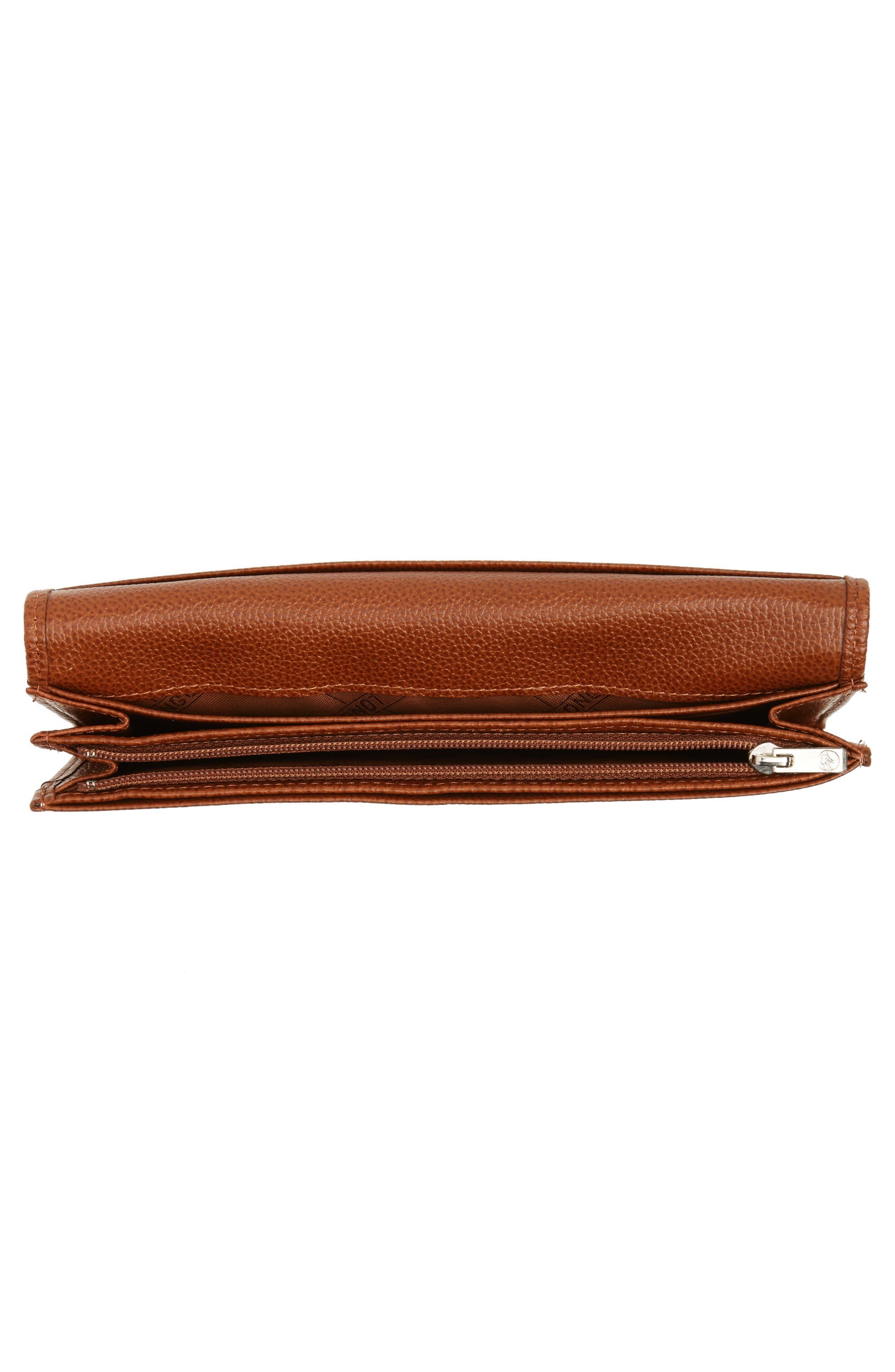 'Veau' Continental Wallet,                             Alternate thumbnail 4, color,                             COGNAC