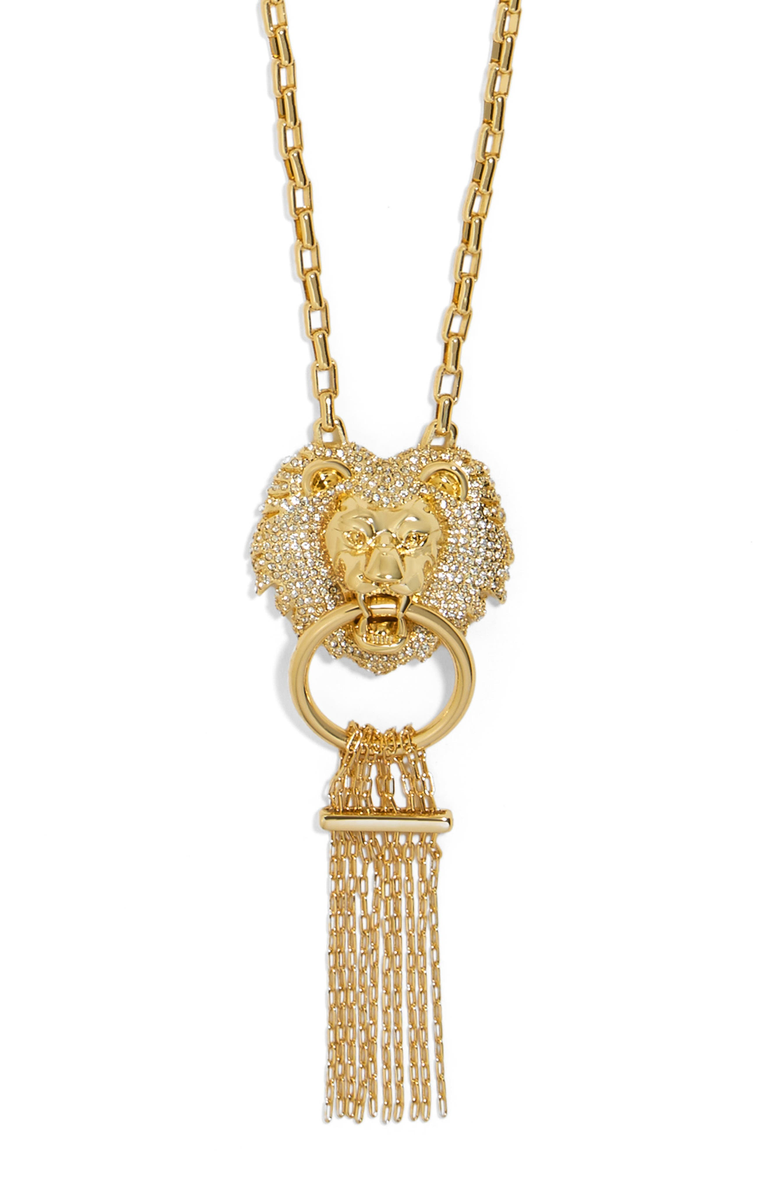 Panthera Fringe Pendant Necklace,                             Alternate thumbnail 2, color,                             710