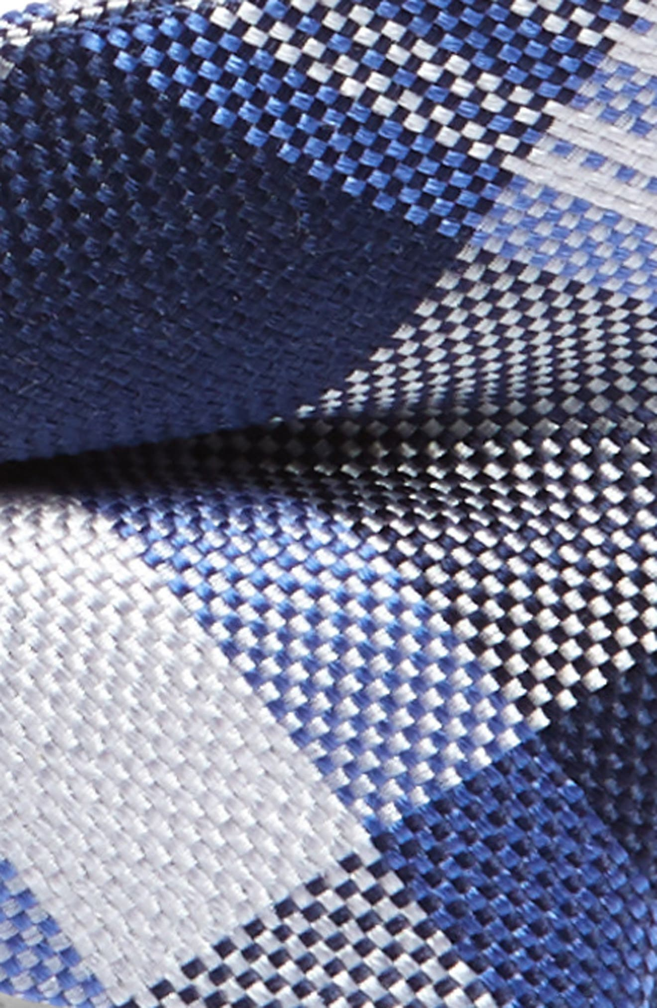 NORDSTROM,                             Plaid Silk Bow Tie,                             Alternate thumbnail 2, color,                             NAVY