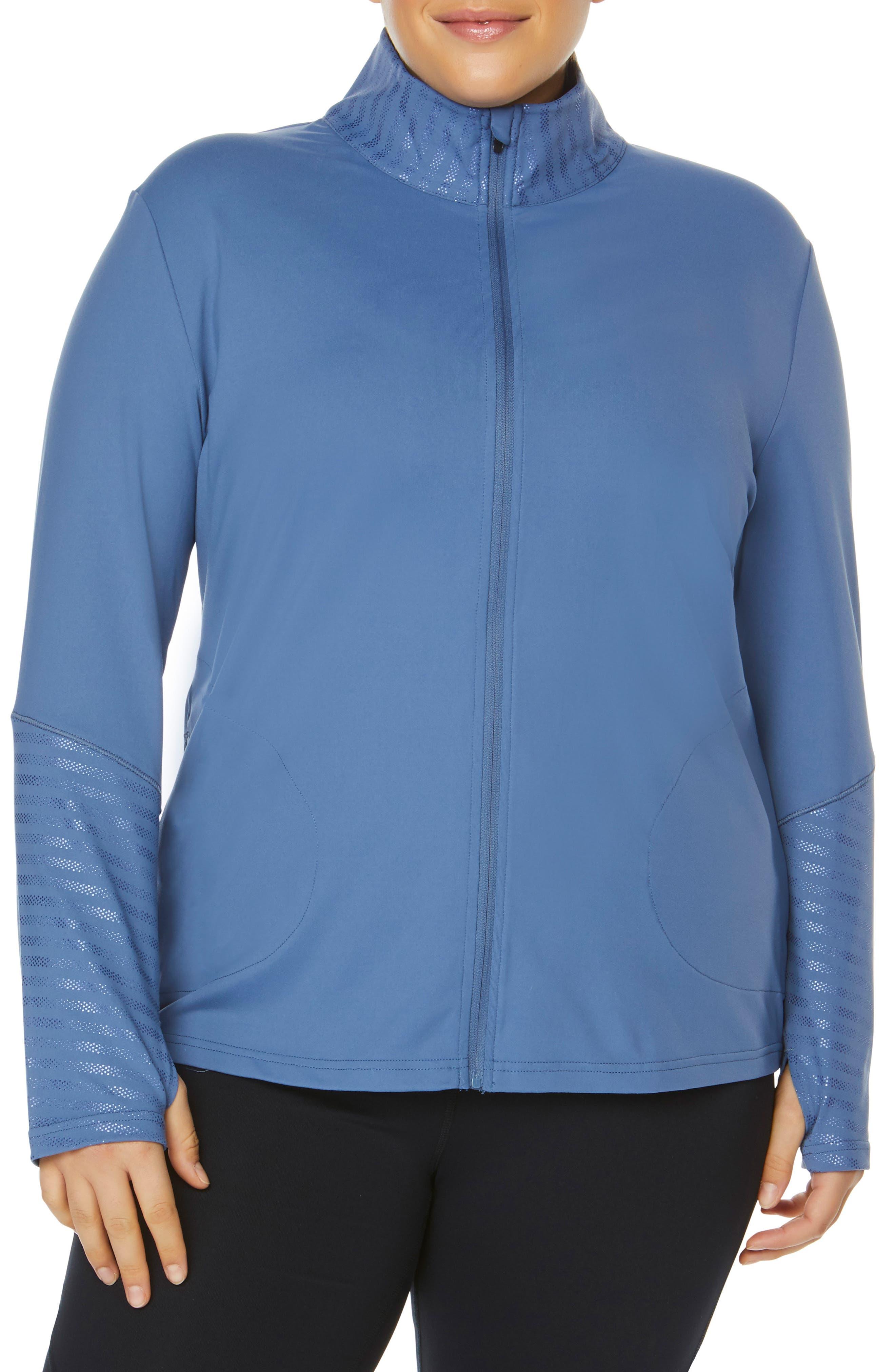 Plus Size Shape Activewear Refine Jacket, Grey