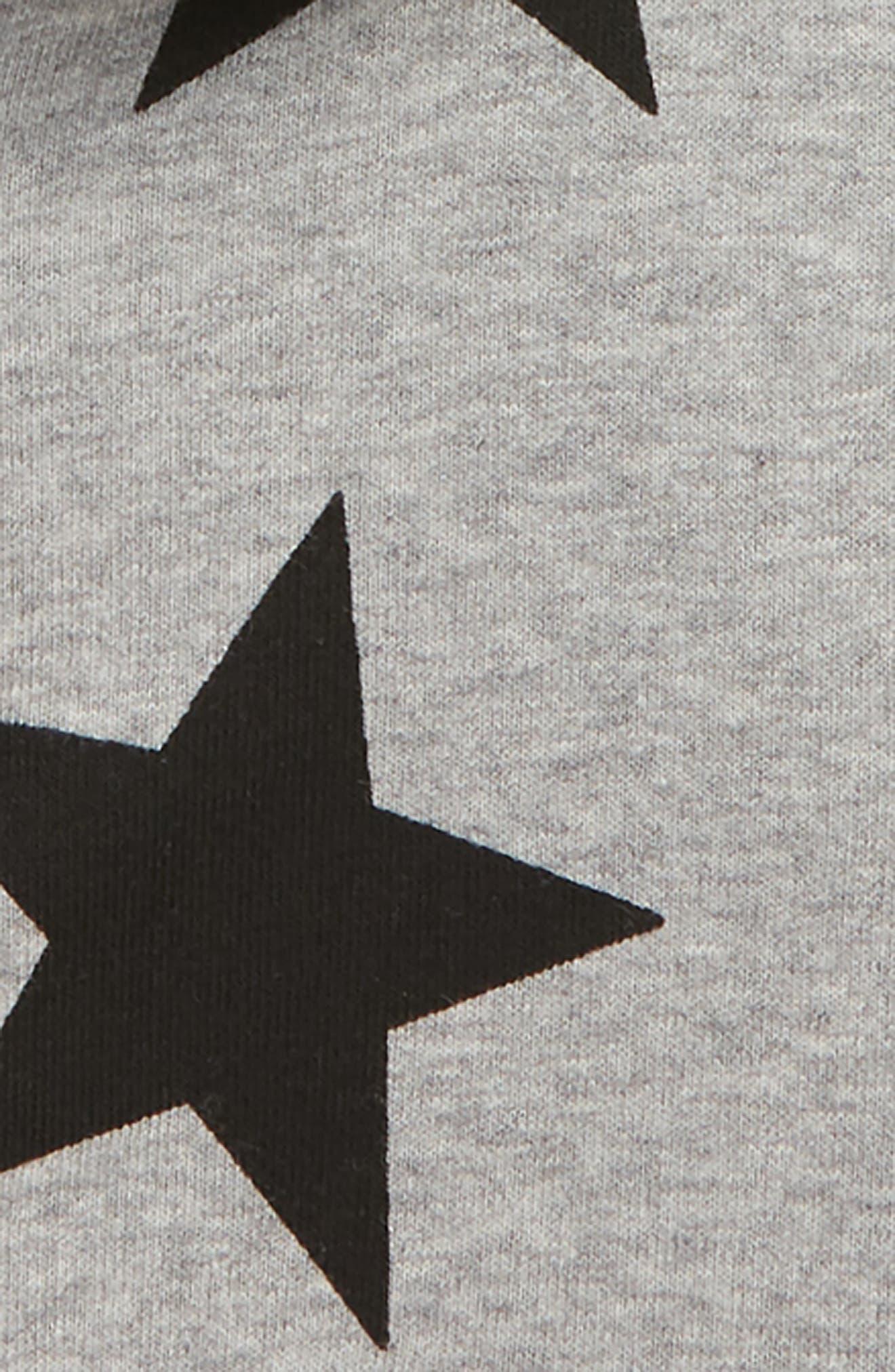 Star Zip Hoodie,                             Alternate thumbnail 2, color,                             HEATHER GREY