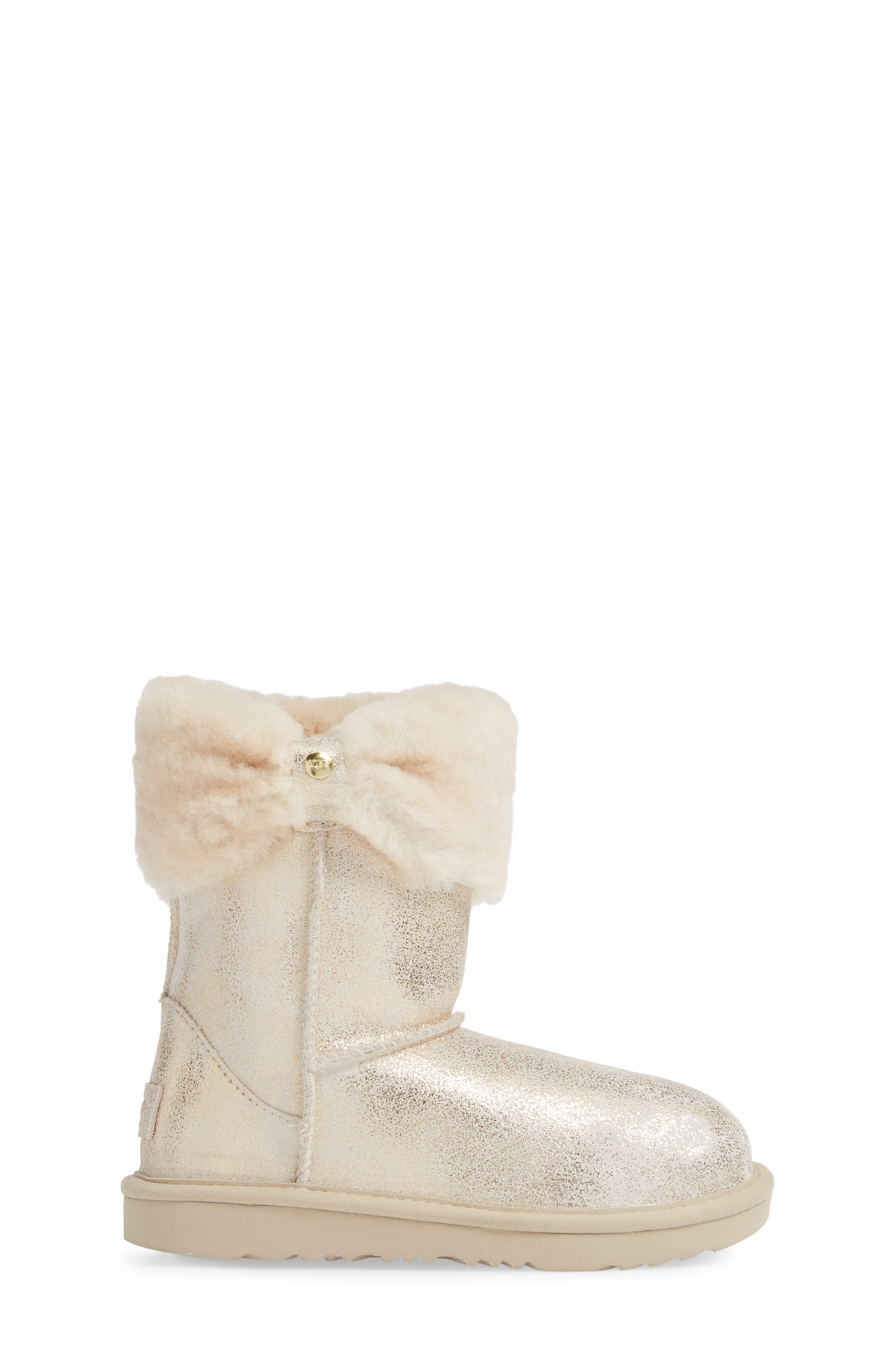 Ramona II Classic Short Boot,                             Alternate thumbnail 3, color,                             GOLD