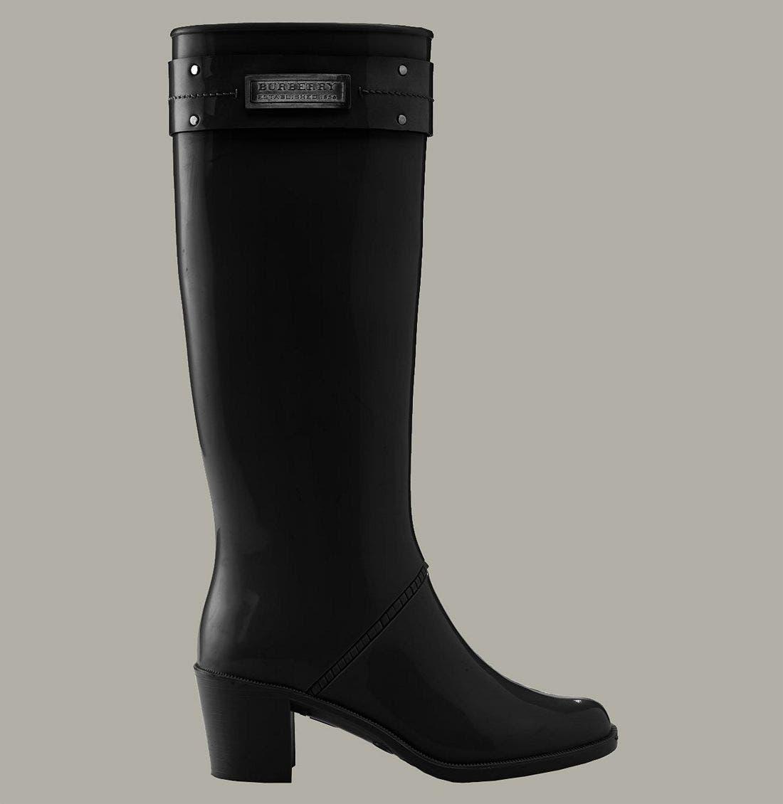 Heeled Rain Boot,                             Alternate thumbnail 2, color,                             001