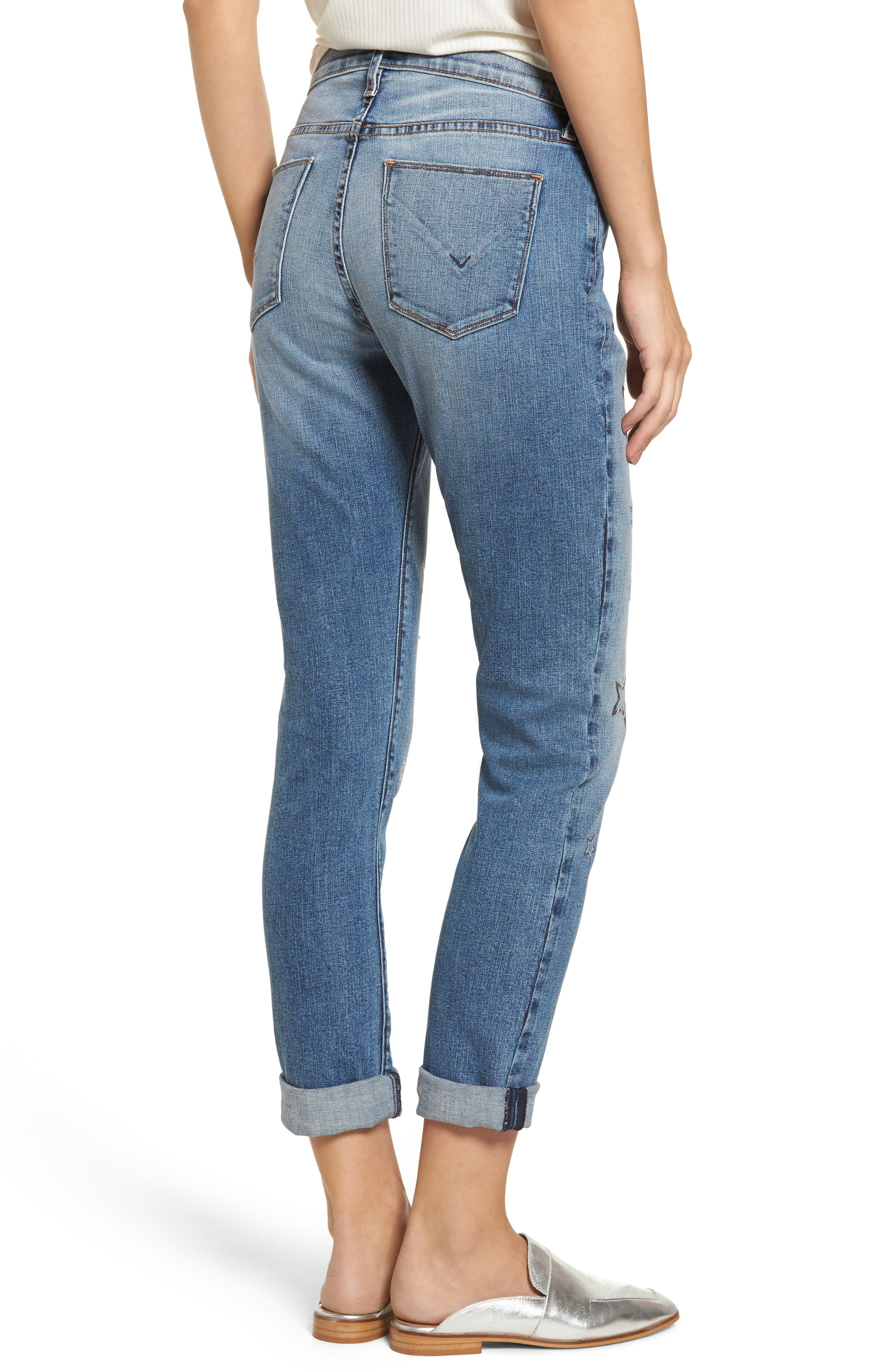 Crop Riley Relaxed Straight Leg Jeans,                             Alternate thumbnail 2, color,                             402