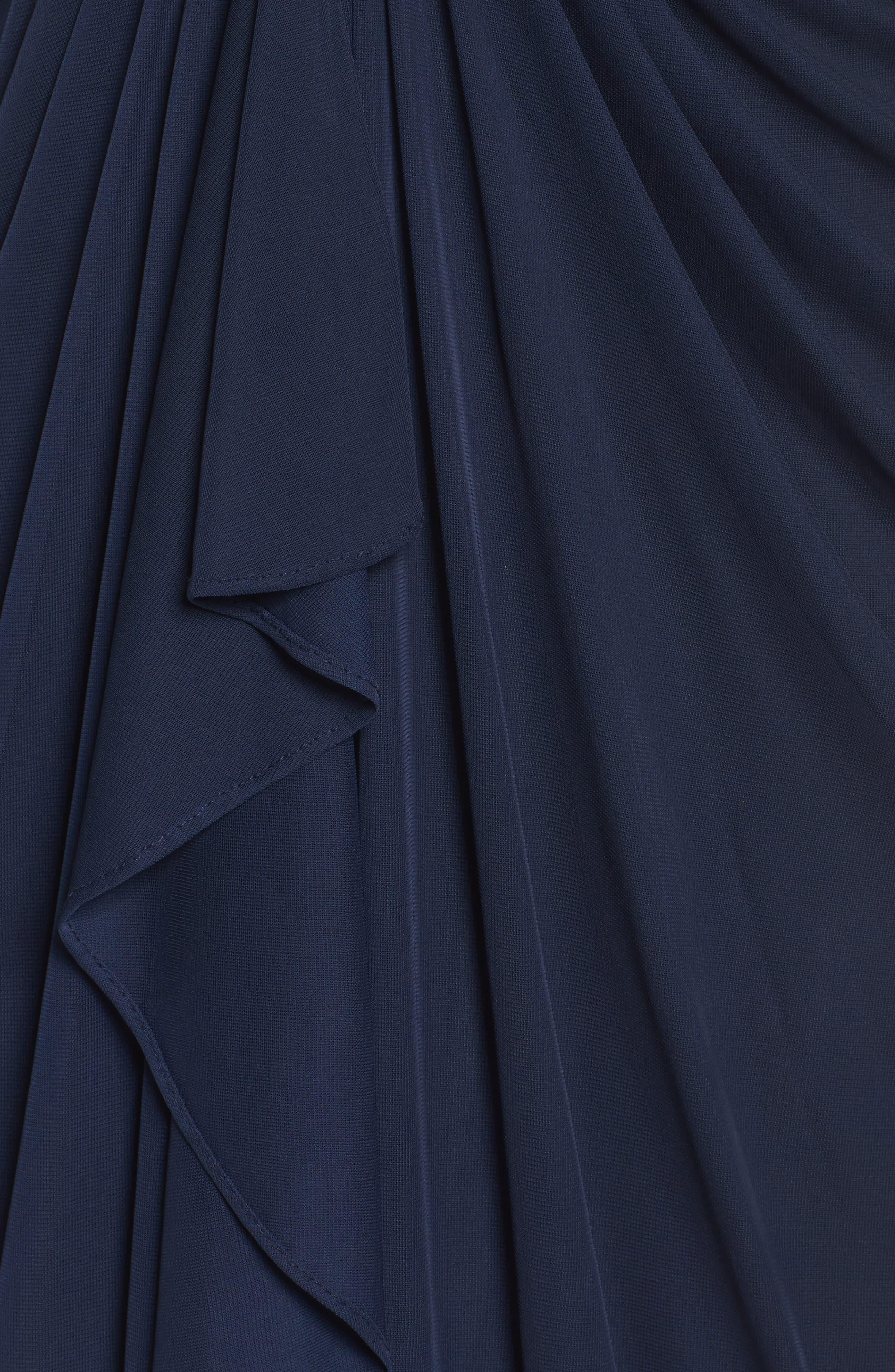 Draped Mesh Gown,                             Alternate thumbnail 5, color,                             411