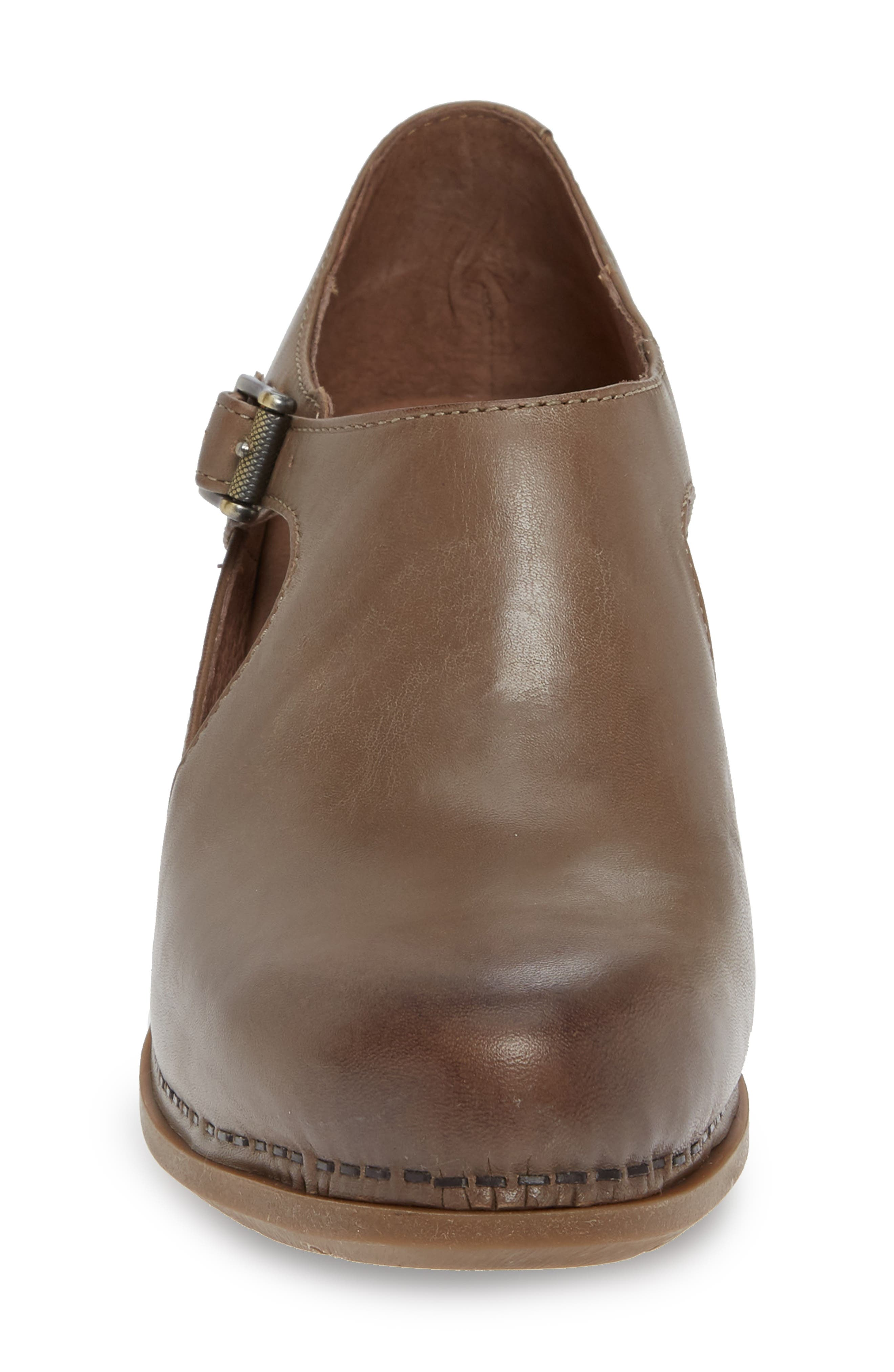 Hollie Bootie,                             Alternate thumbnail 4, color,                             TAUPE BURNISHED LEATHER