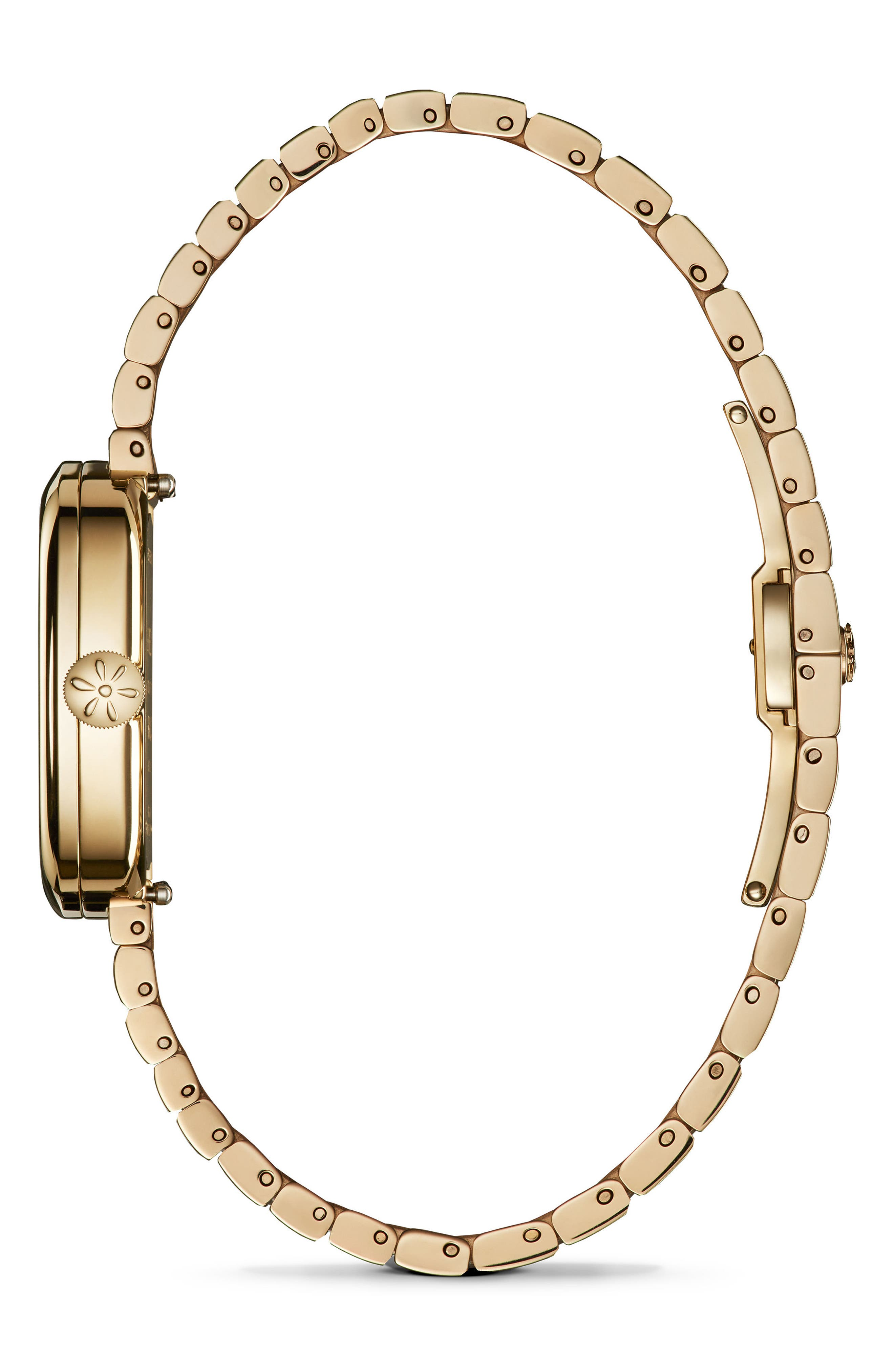 GOMELSKY,                             The Eppie Sneed Mini Bracelet Watch, 32mm,                             Alternate thumbnail 3, color,                             GOLD/ MOP GOLD
