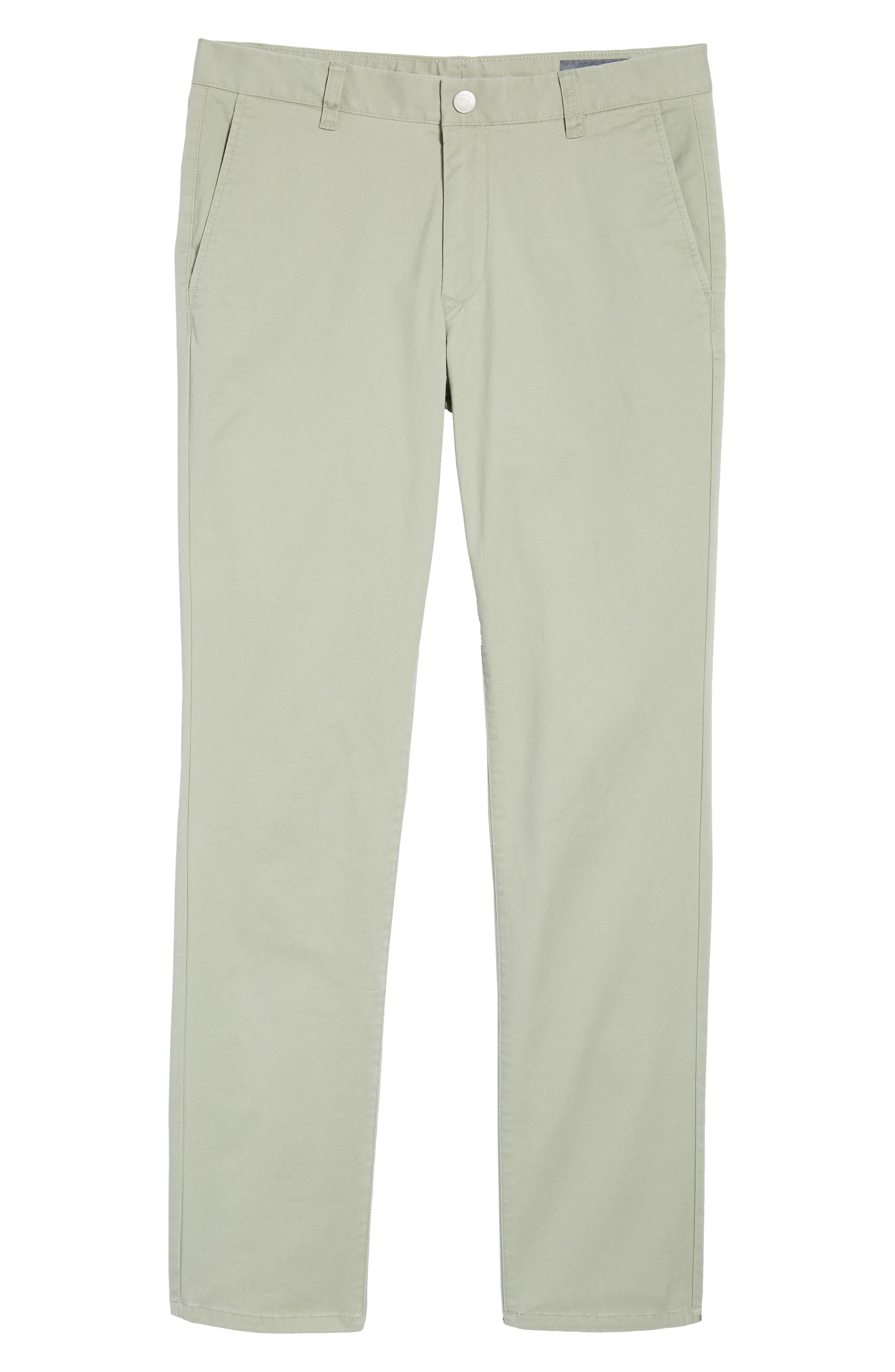 Tailored Fit Washed Stretch Cotton Chinos,                             Alternate thumbnail 182, color,