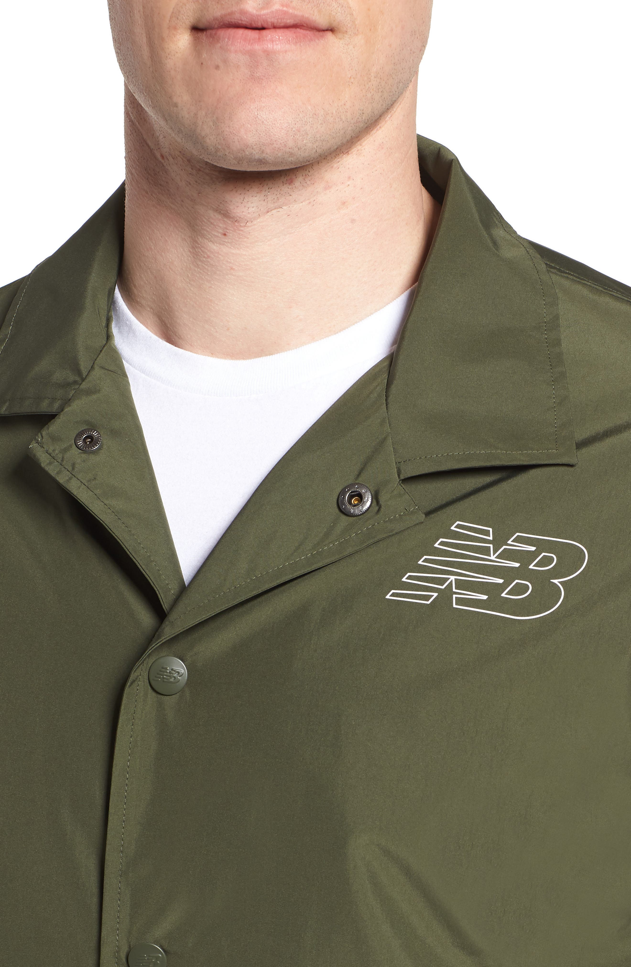 Classic Coach's Jacket,                             Alternate thumbnail 4, color,                             DARK COVERT GREEN