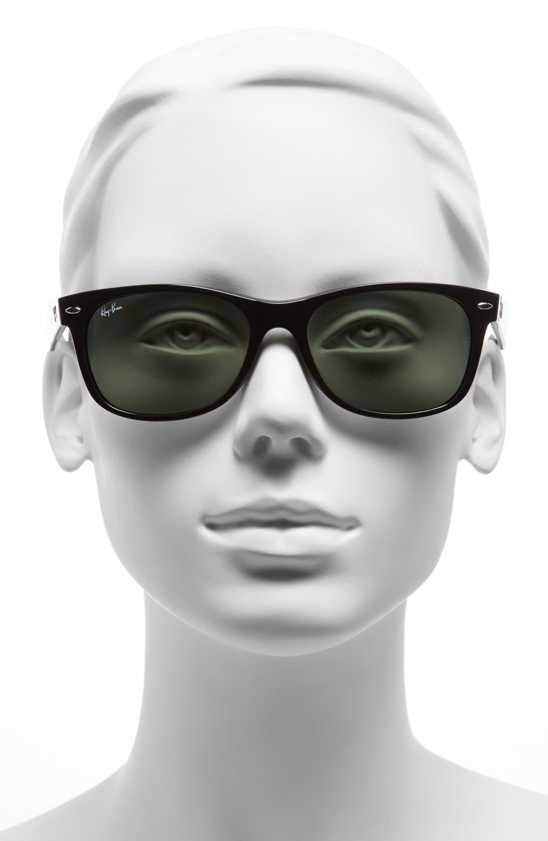 Standard New Wayfarer 55mm Sunglasses,                             Alternate thumbnail 4, color,                             BLACK