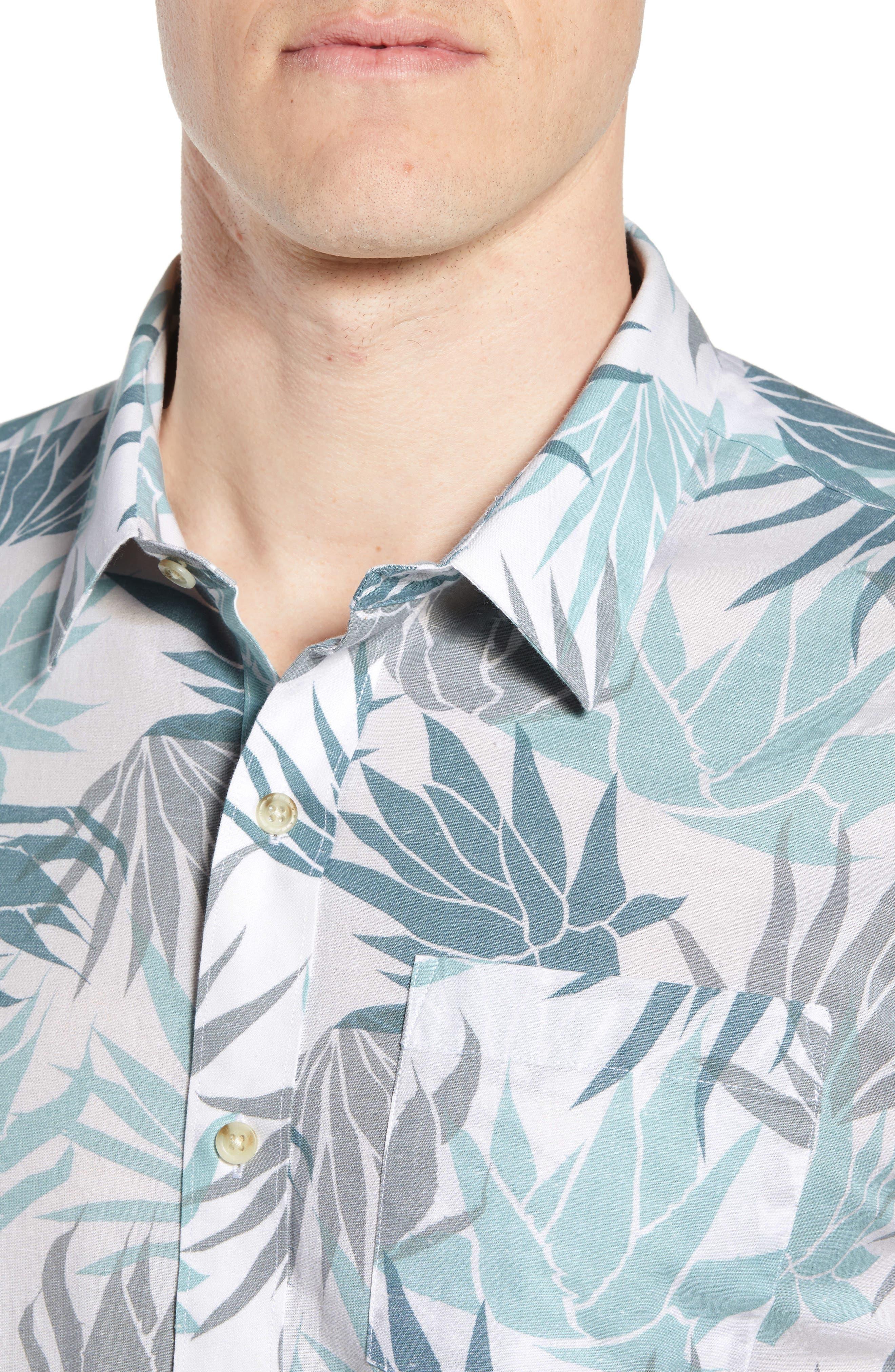 Monocots Regular Fit Sport Shirt,                             Alternate thumbnail 4, color,                             WHITE