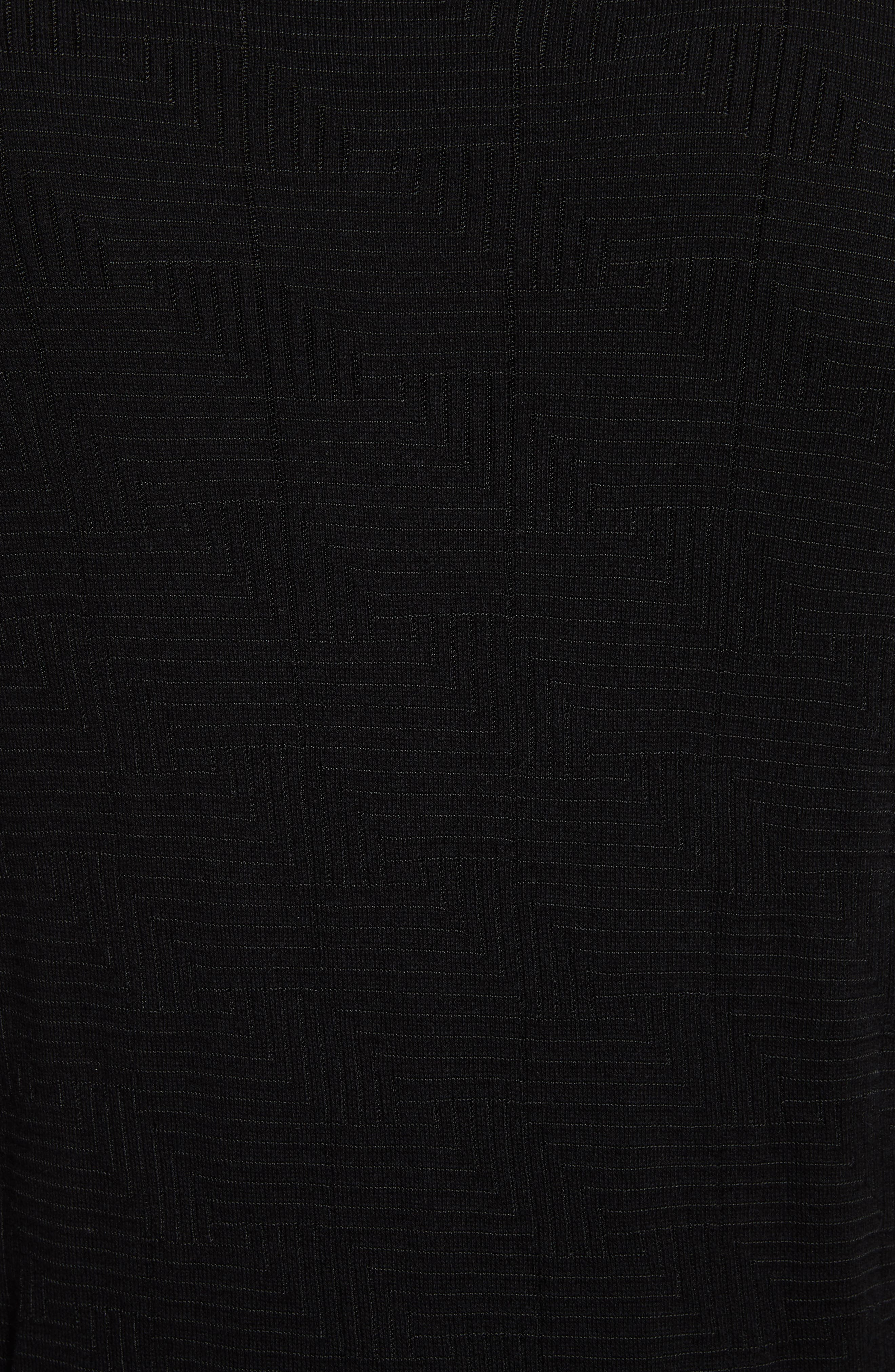 Frame Jacquard Sweater,                             Alternate thumbnail 5, color,                             001