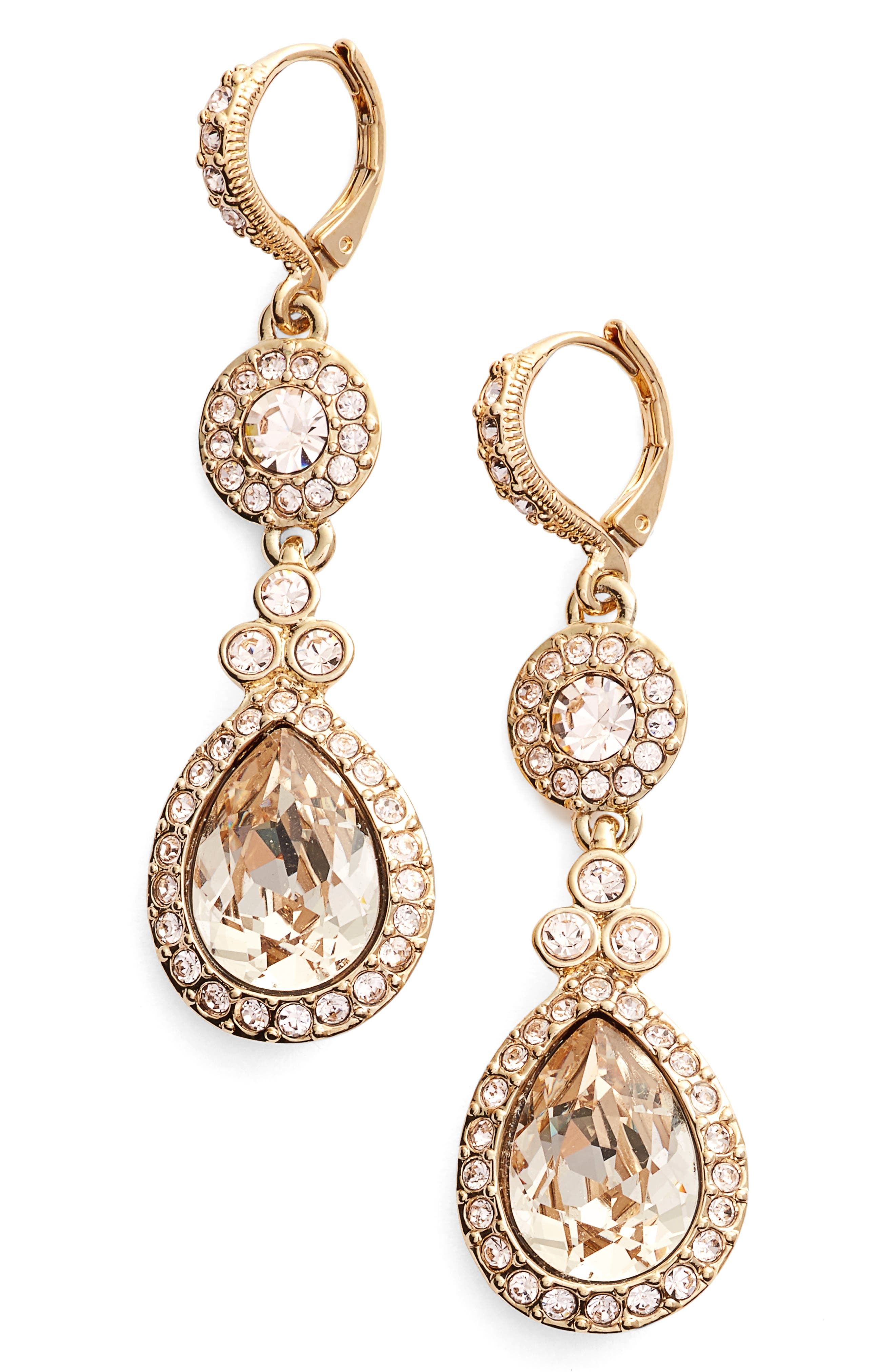 Wingate Drop Earrings,                             Main thumbnail 1, color,                             GOLD / SILK