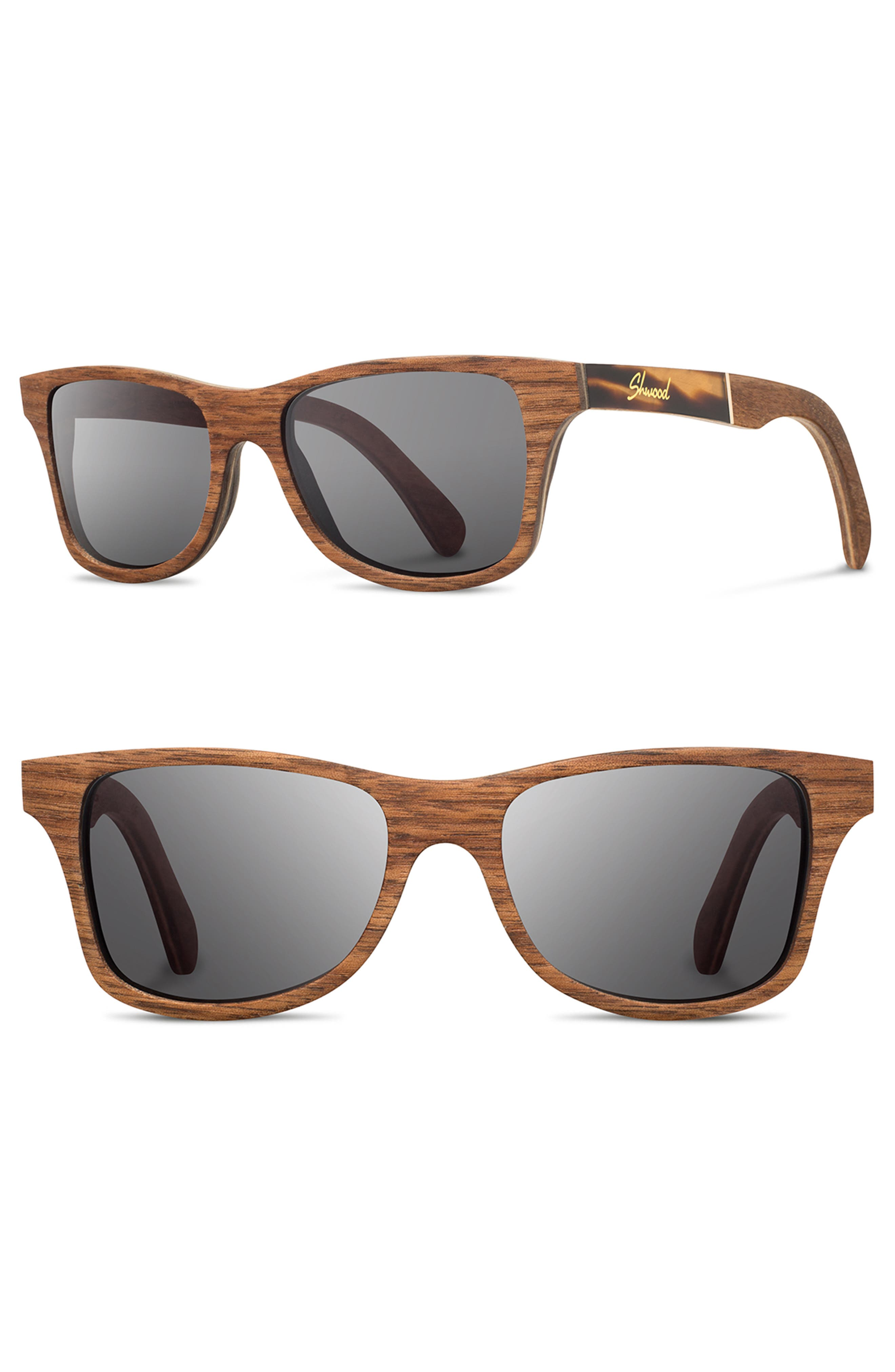 'Canby' 54mm Wood Sunglasses,                             Main thumbnail 4, color,