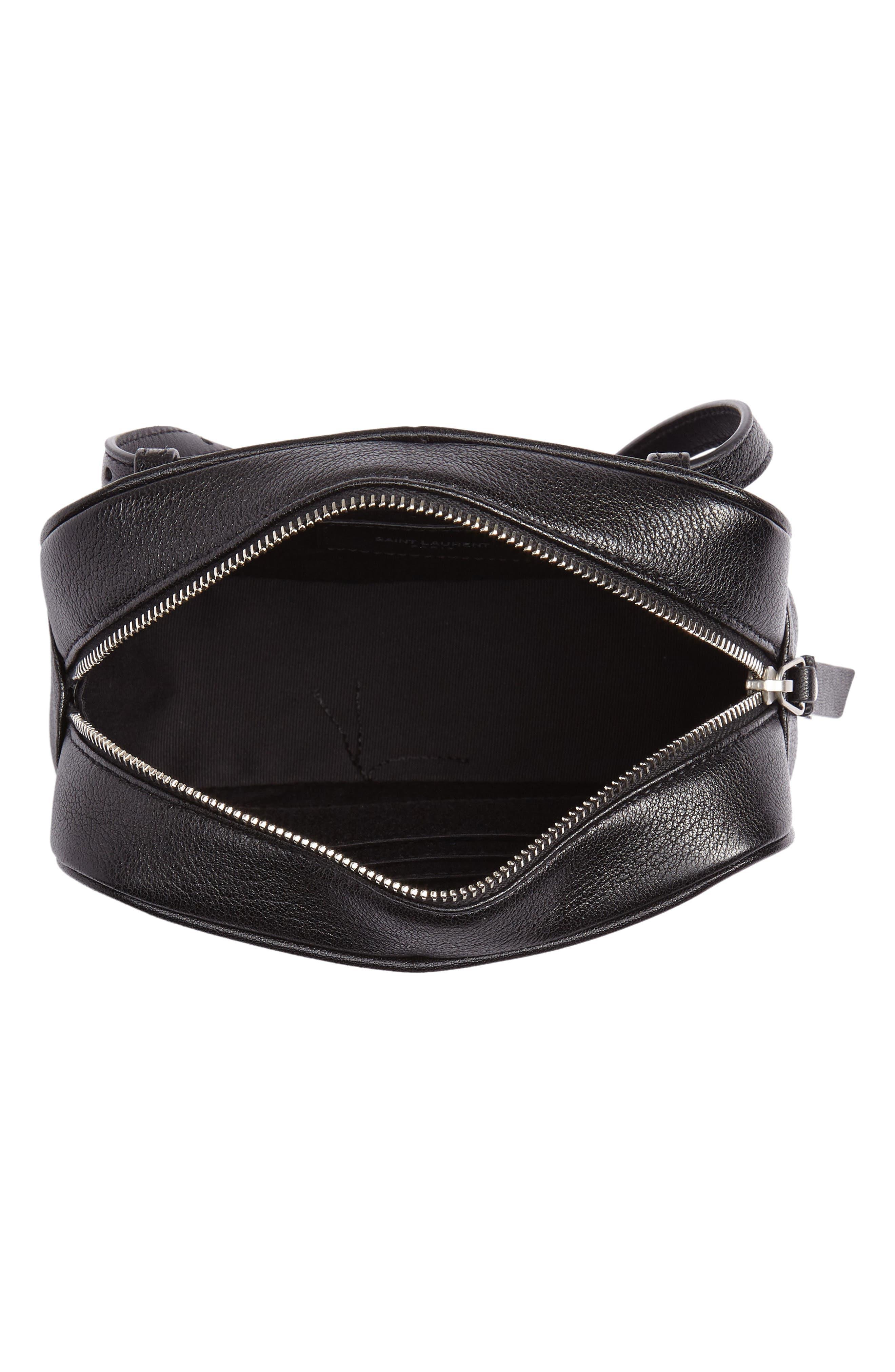 Loulou Tassel Leather Belt Bag,                             Alternate thumbnail 6, color,                             001