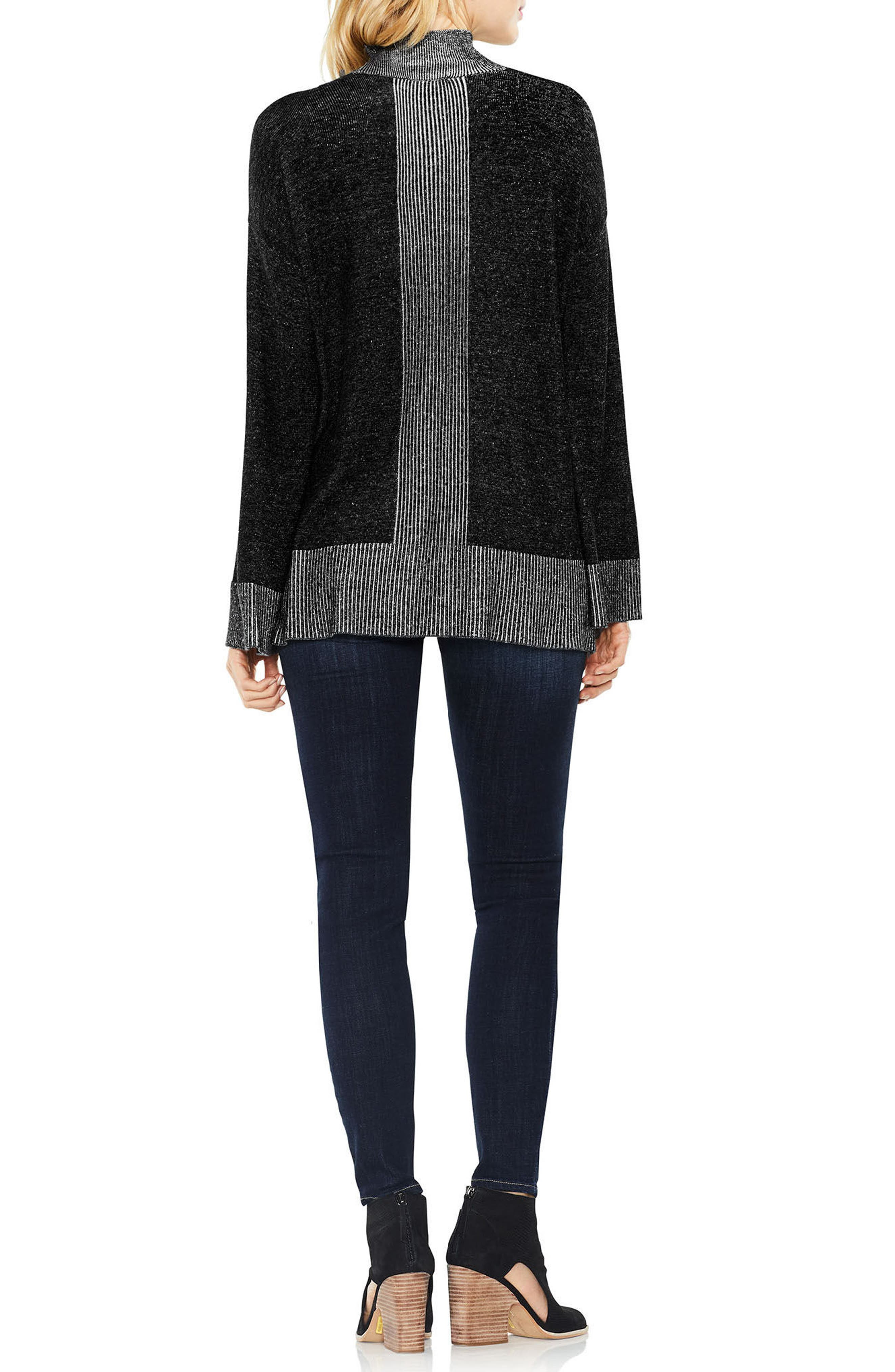 Two by Vince Camuto Ribbed Contrast Sweater,                             Alternate thumbnail 5, color,