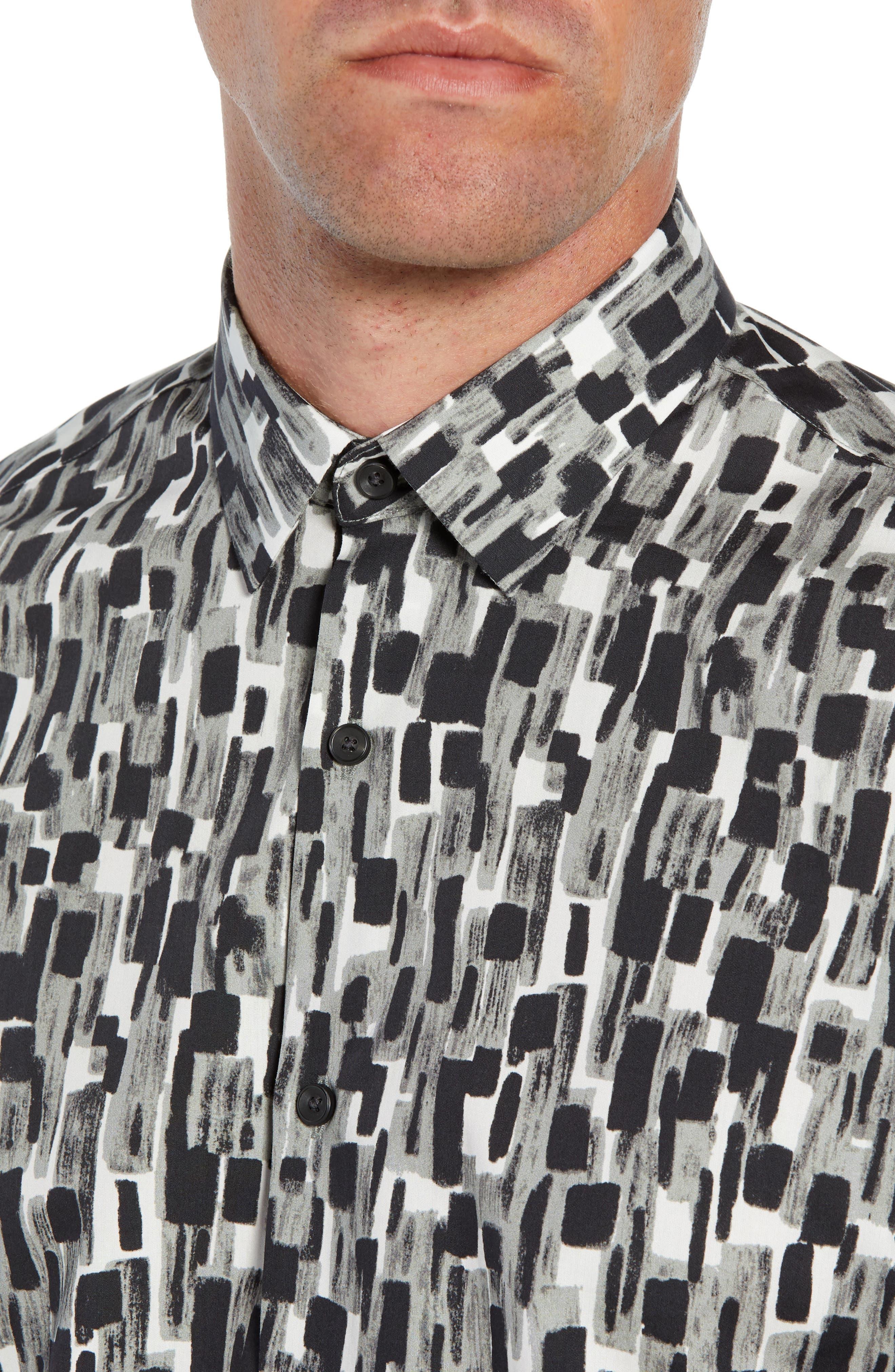 Mini Collar Print Sport Shirt,                             Alternate thumbnail 2, color,                             050