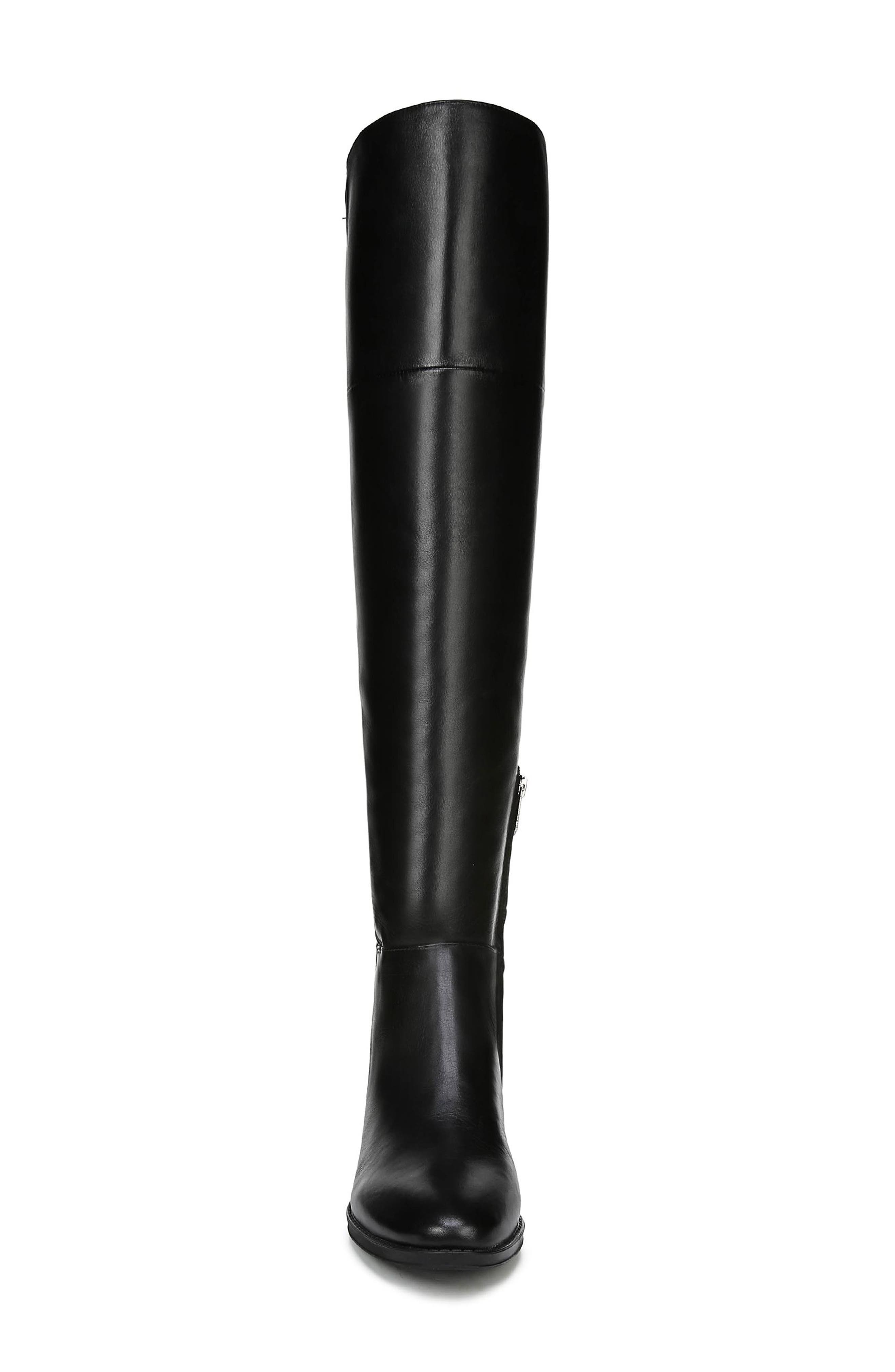 Pam Over the Knee Boot,                             Alternate thumbnail 4, color,                             BLACK LEATHER