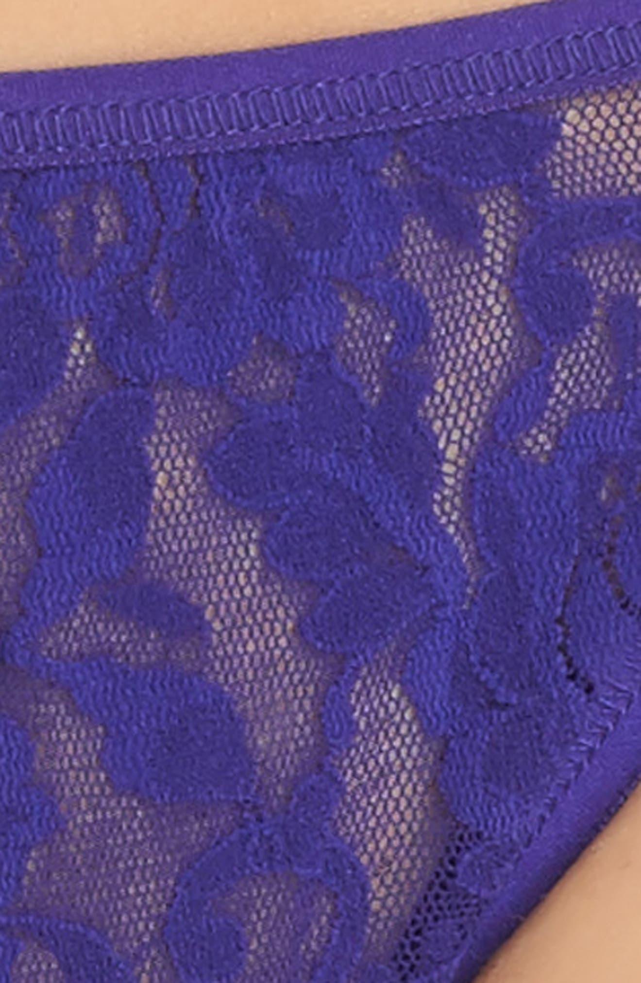 Signature Lace String Bikini,                             Alternate thumbnail 4, color,                             408