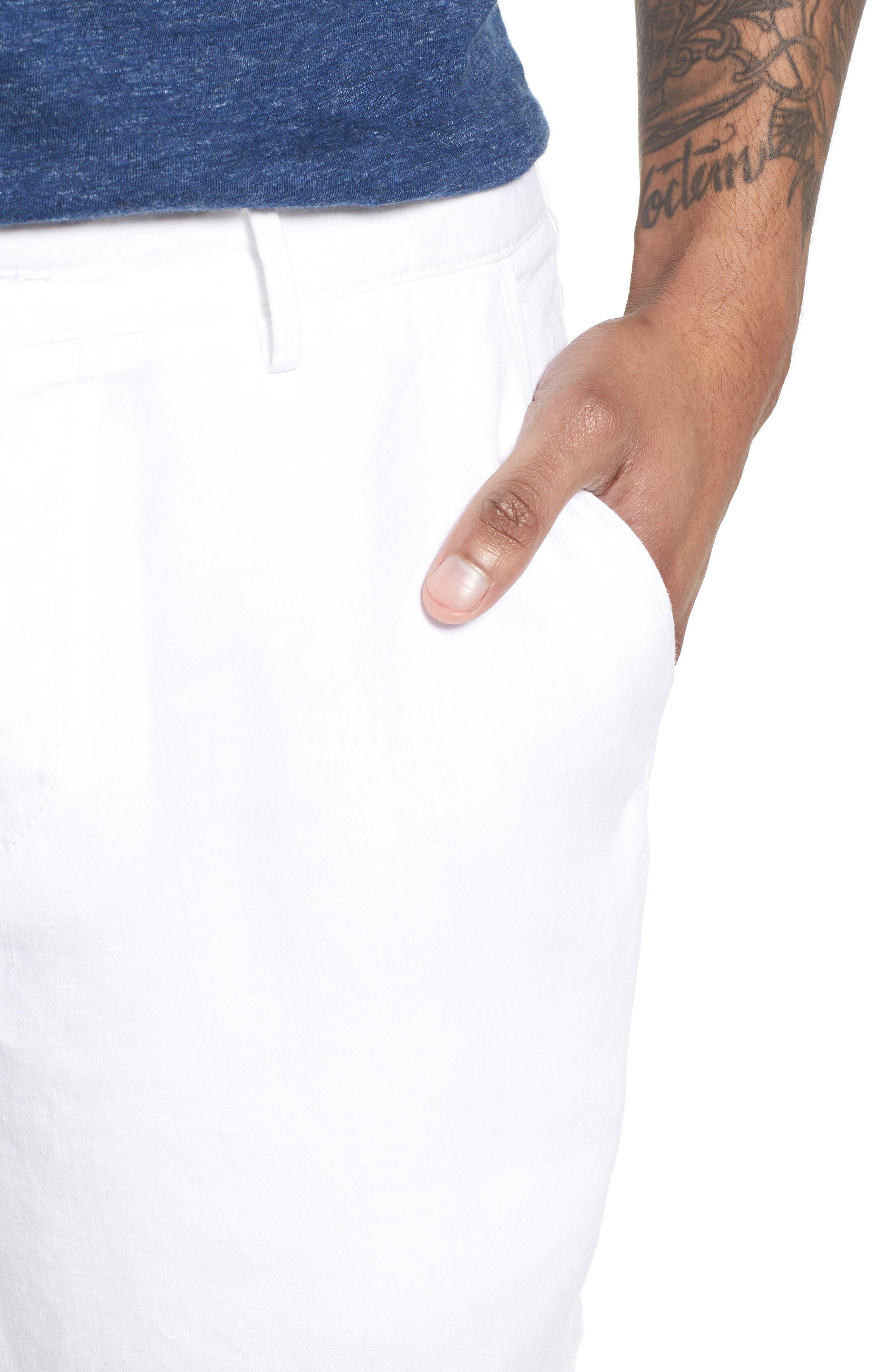 Crigan Linen Shorts,                             Alternate thumbnail 18, color,