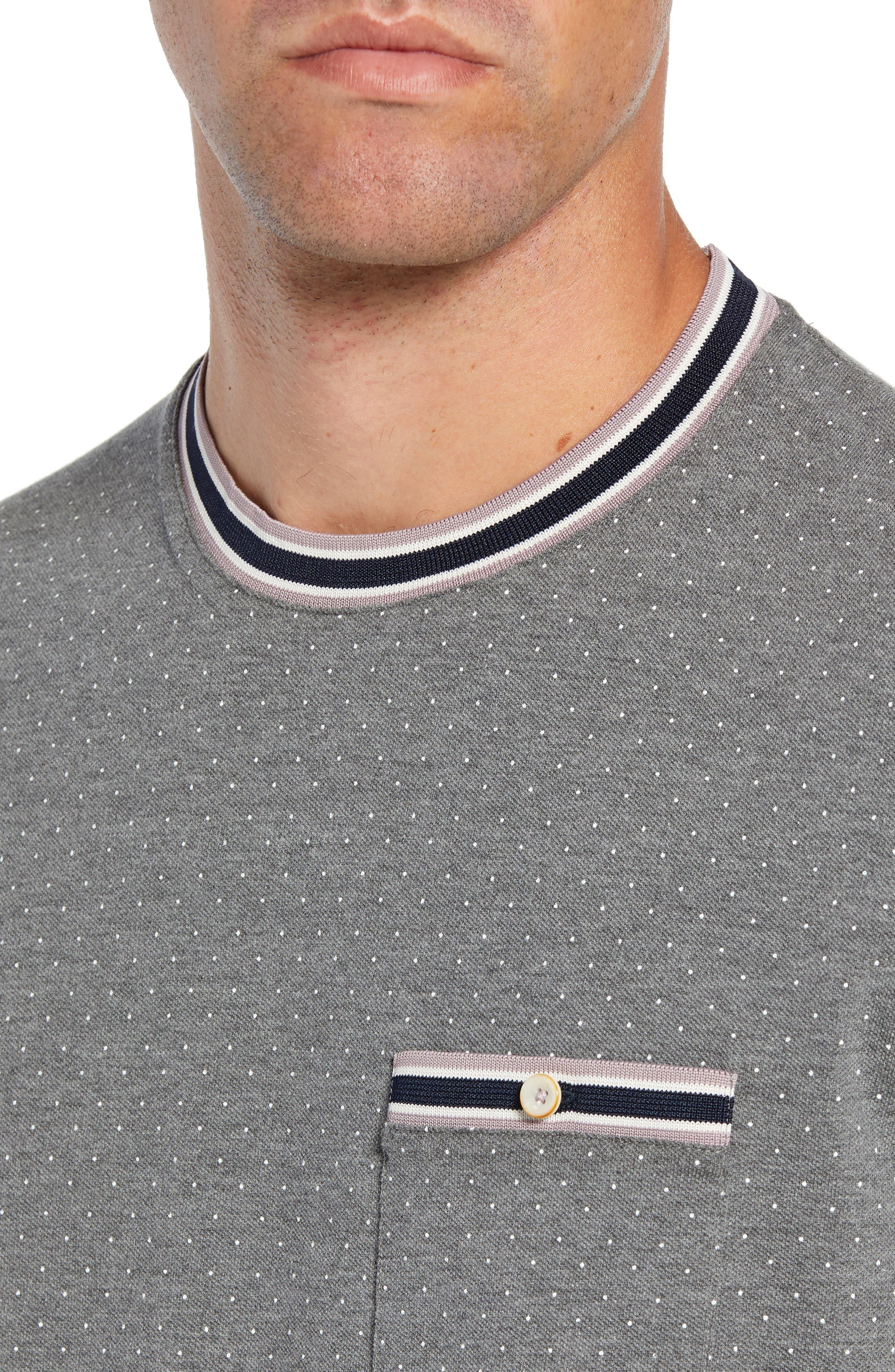 Glaad Trim Fit Mini Spot T-Shirt,                             Alternate thumbnail 4, color,                             GREY MARL