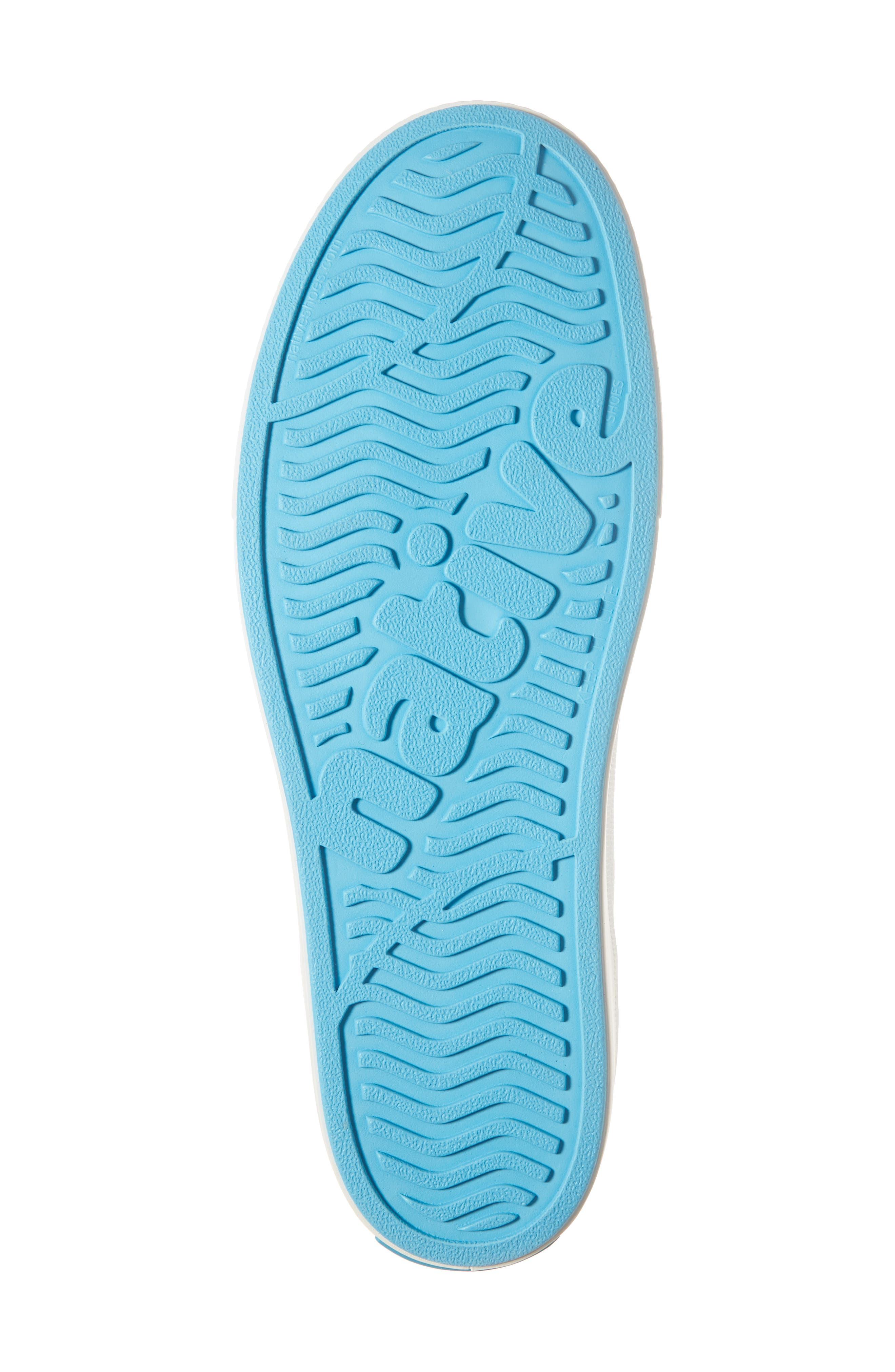 Native Miles LiteKnit Slip-On Sneaker,                             Alternate thumbnail 6, color,                             JIFFY BLACK/ SHELL WHITE