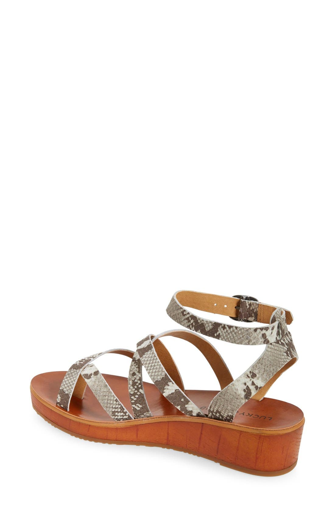 'Honeyy' Platform Sandal,                             Alternate thumbnail 3, color,                             020