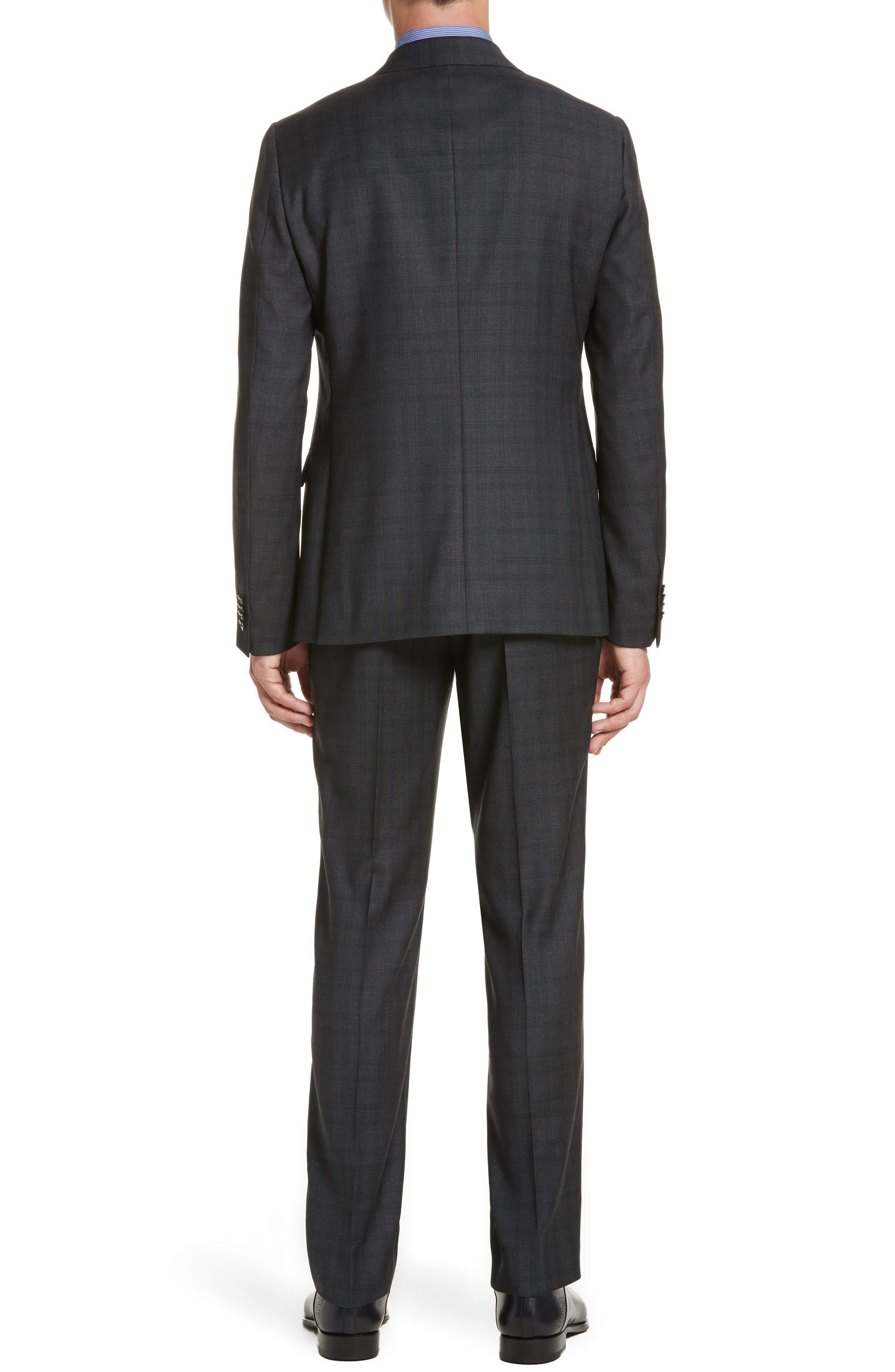 Classic Fit Plaid Wool Suit,                             Alternate thumbnail 2, color,                             026