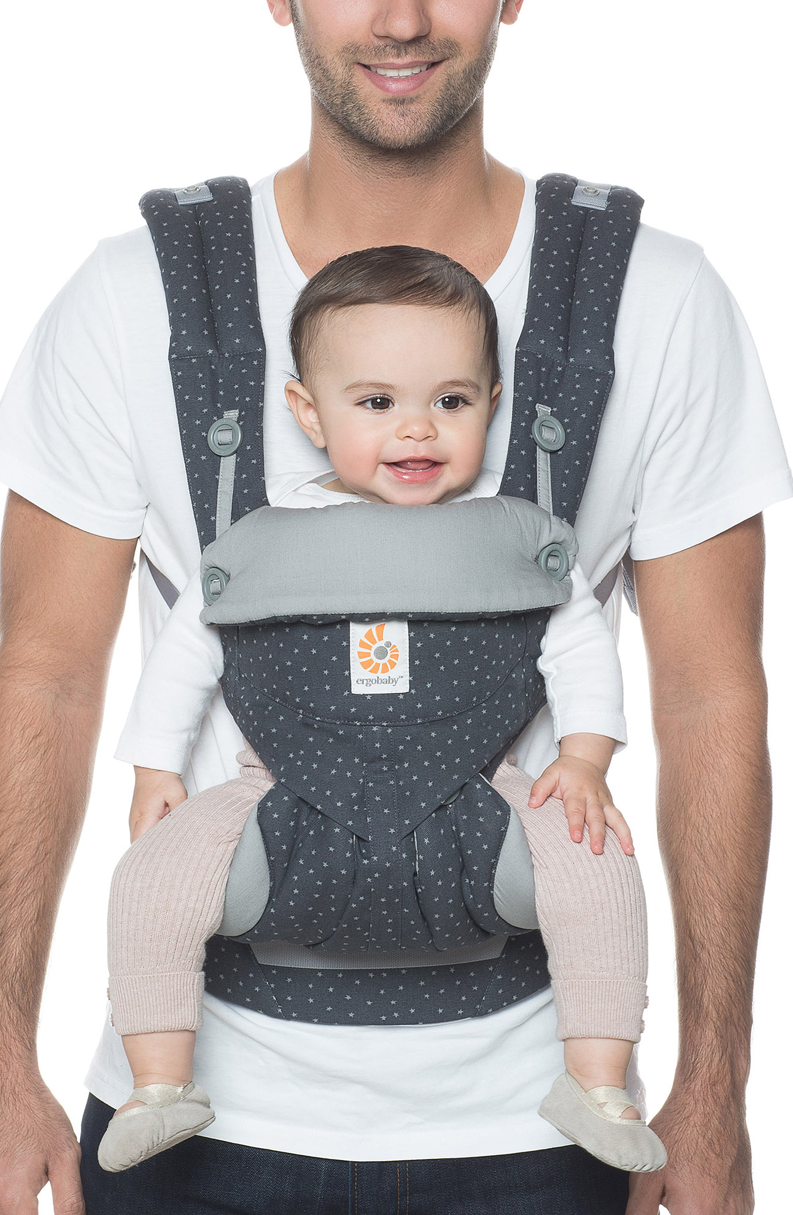 '360' Baby Carrier,                             Alternate thumbnail 3, color,                             GREY WITH STARS