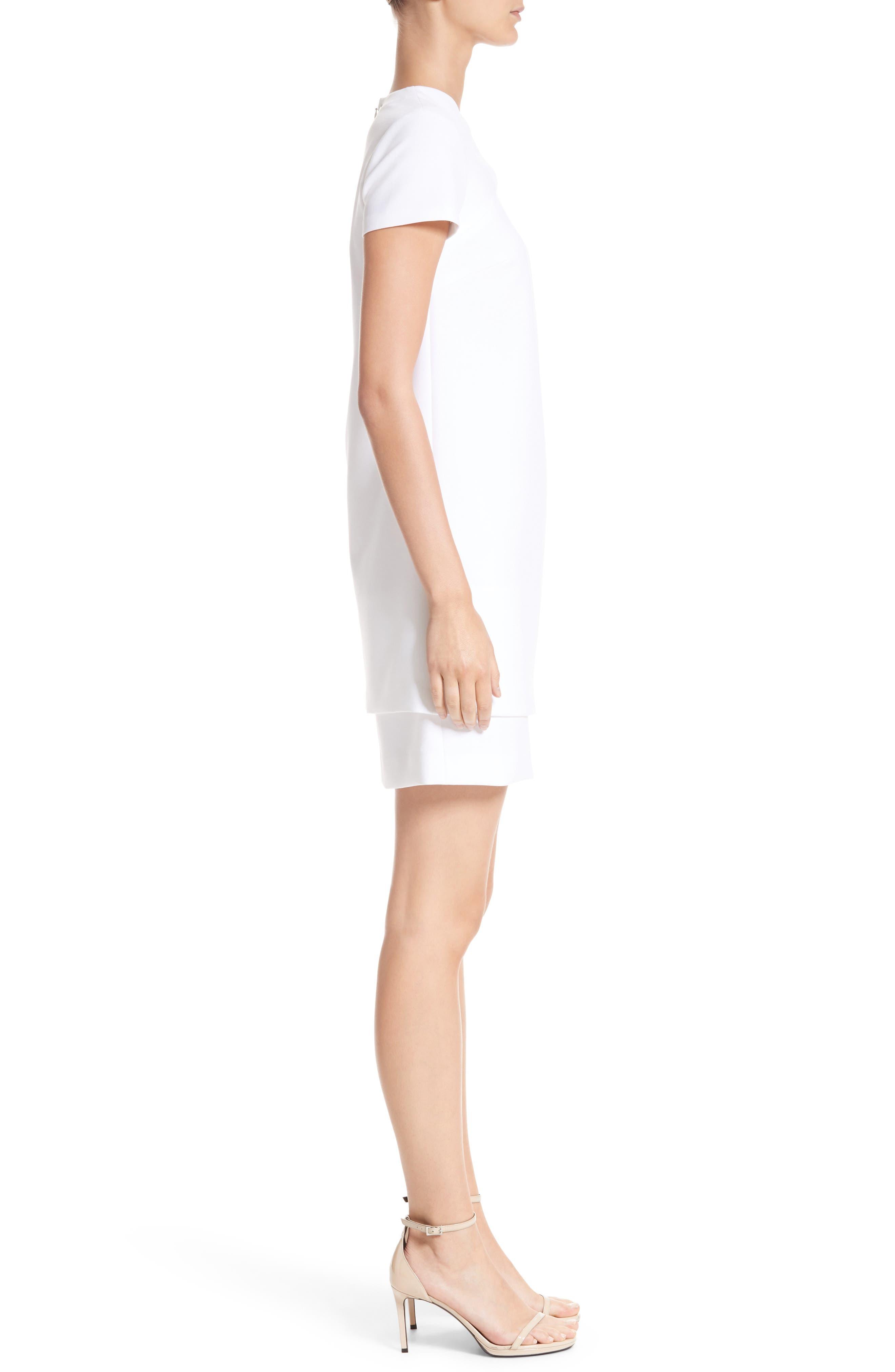 Cutout Stretch Cady Dress,                             Alternate thumbnail 3, color,                             111