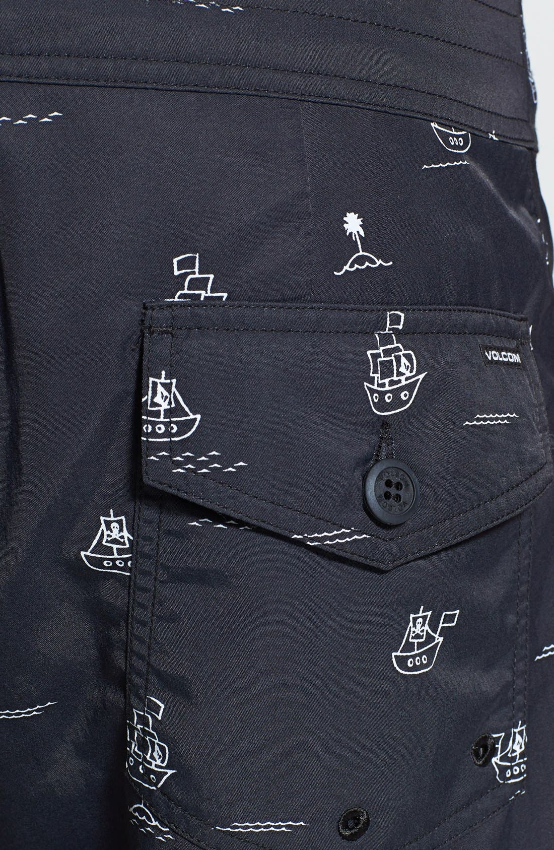 'Vin Vang' Print Swim Shorts,                             Alternate thumbnail 2, color,                             001