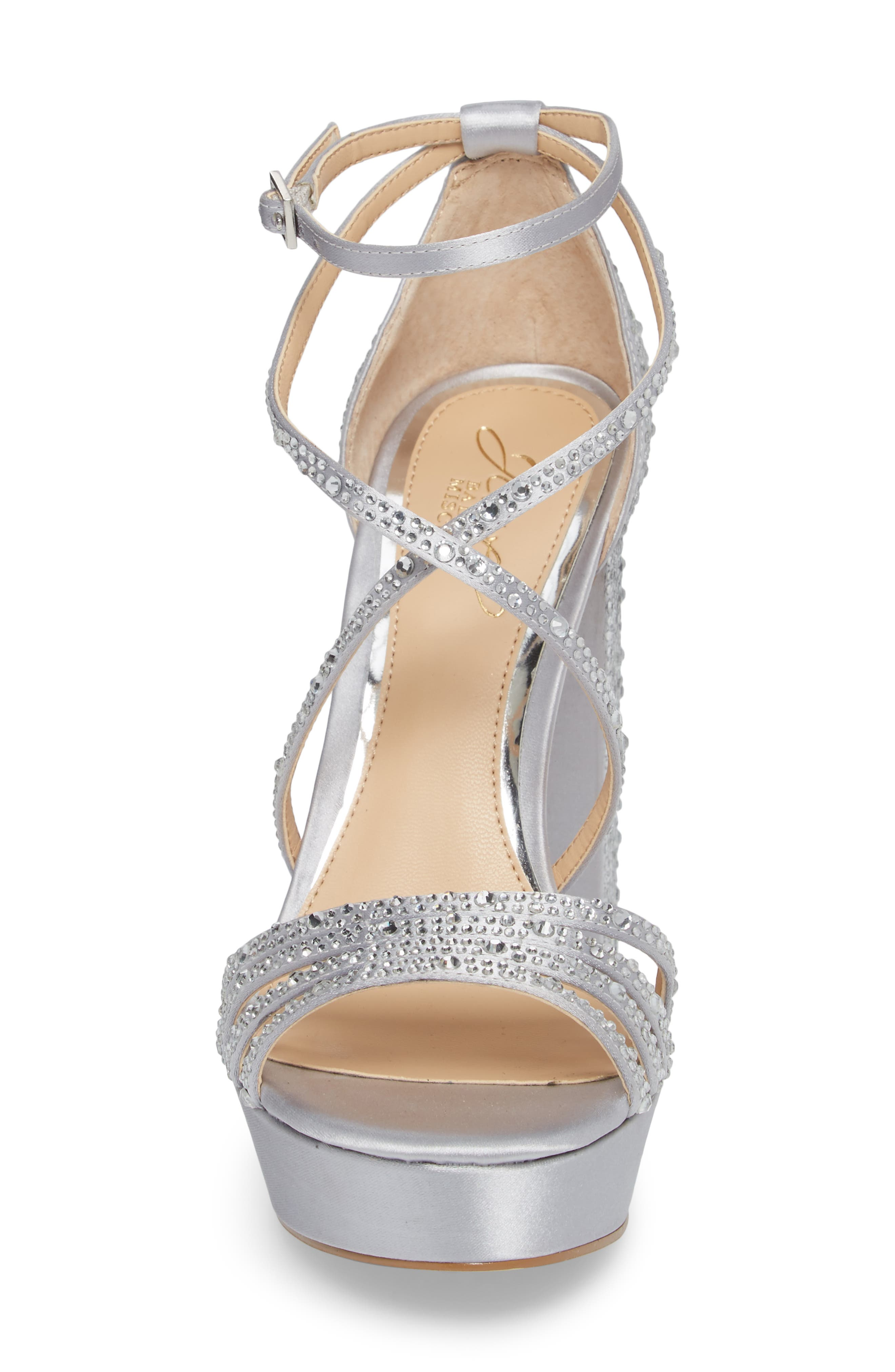 Tarah Crystal Embellished Platform Sandal,                             Alternate thumbnail 11, color,