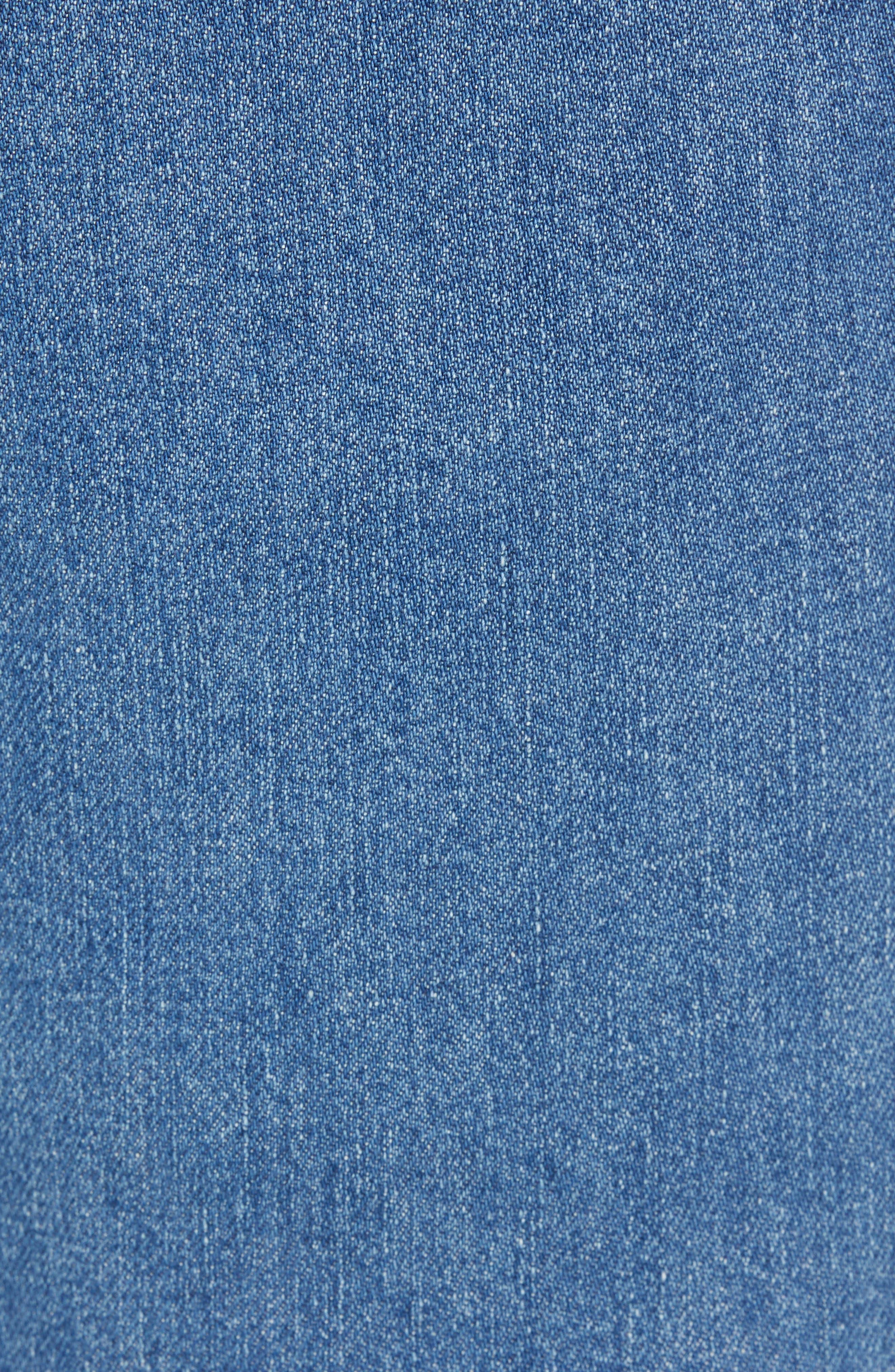 Hi-Ball Straight Leg Jeans,                             Alternate thumbnail 5, color,                             MEDIUM BLUE
