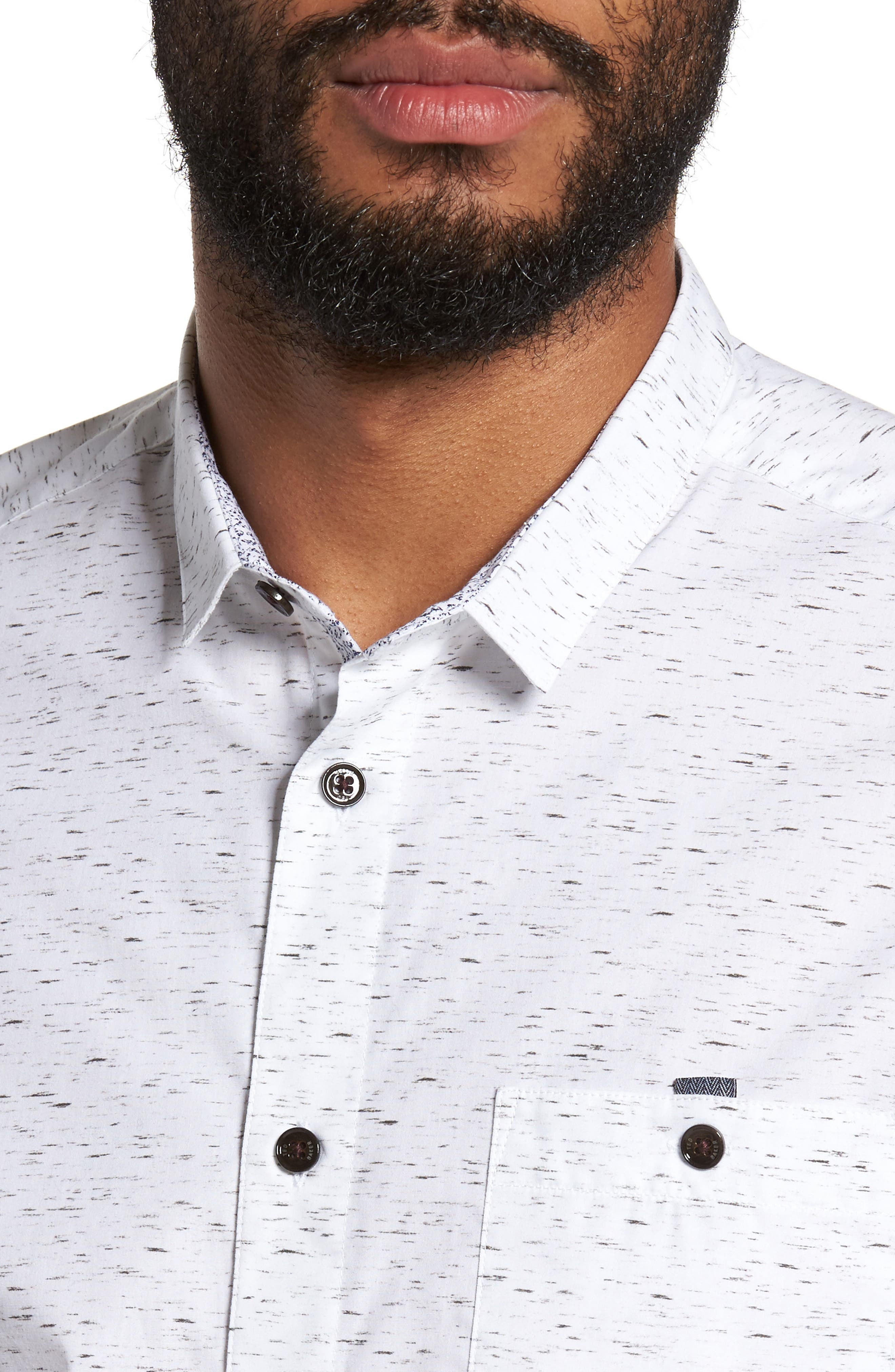 Nep Print Sport Shirt,                             Alternate thumbnail 4, color,                             110