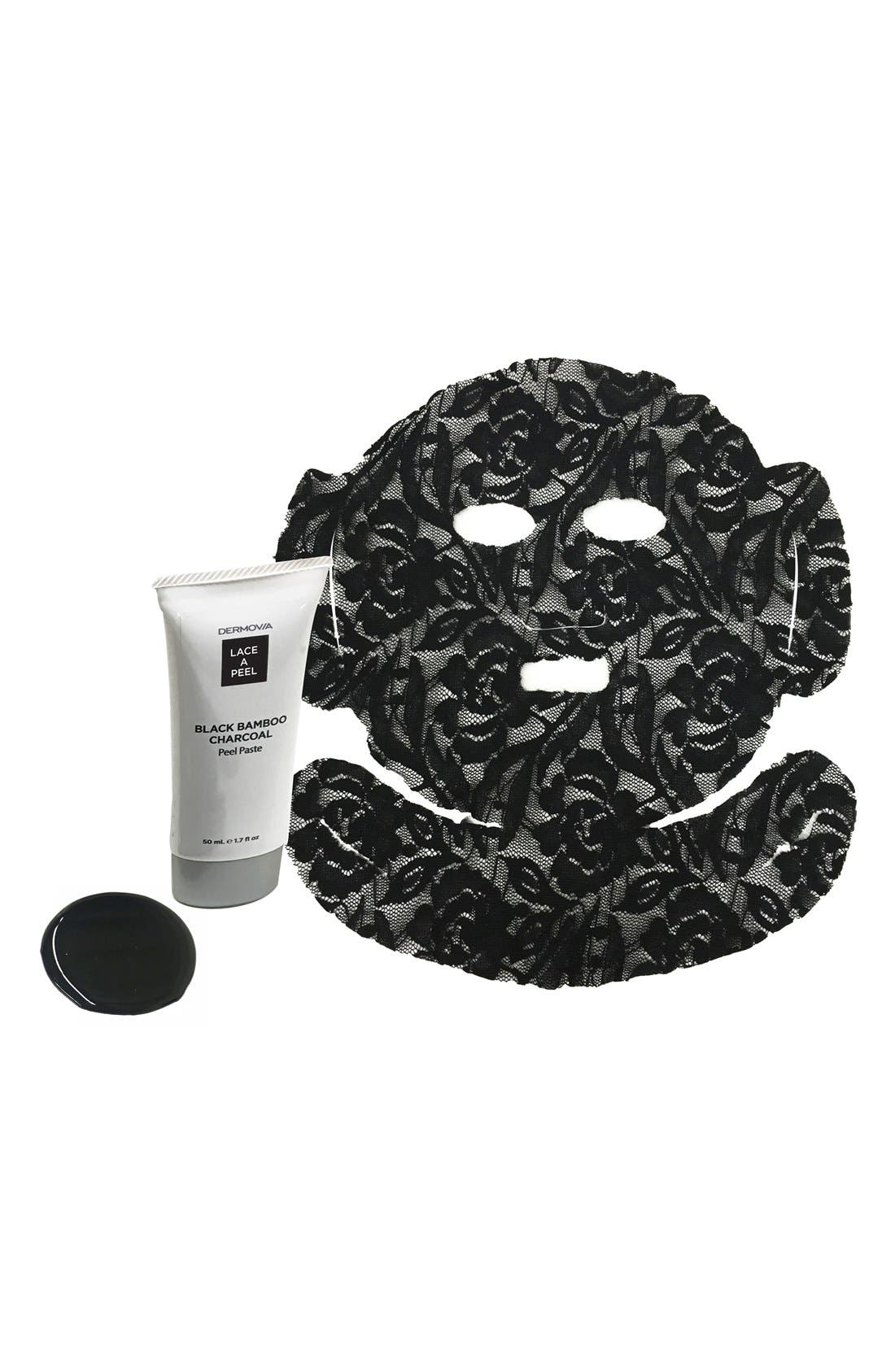 Lace A Peel Black Bamboo Charcoal Peel Off Mask,                             Alternate thumbnail 5, color,                             NO COLOR