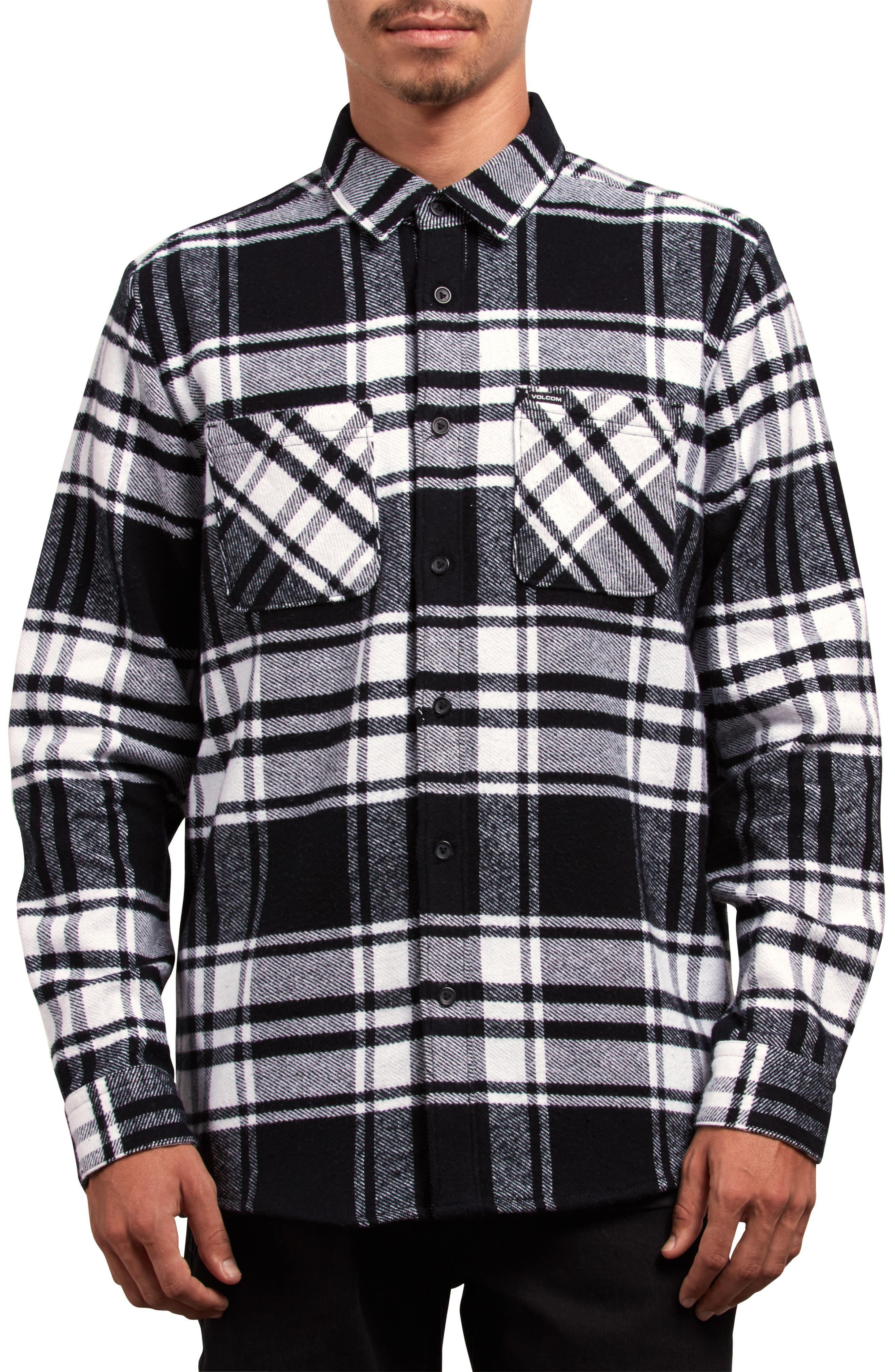 Shader Flannel Shirt,                             Main thumbnail 1, color,                             WHITE