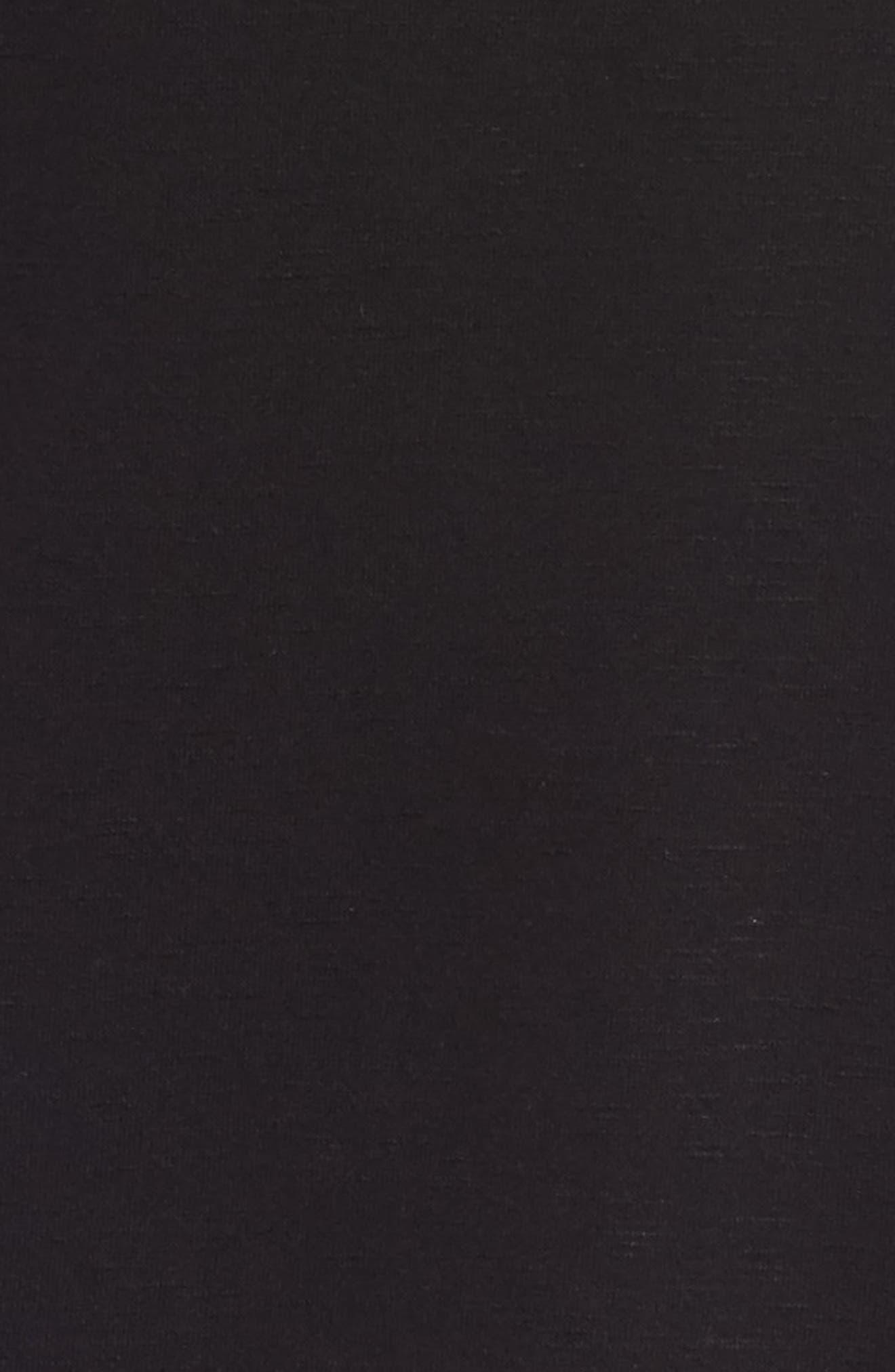 Ruffle Back Sweatshirt,                             Alternate thumbnail 5, color,                             001