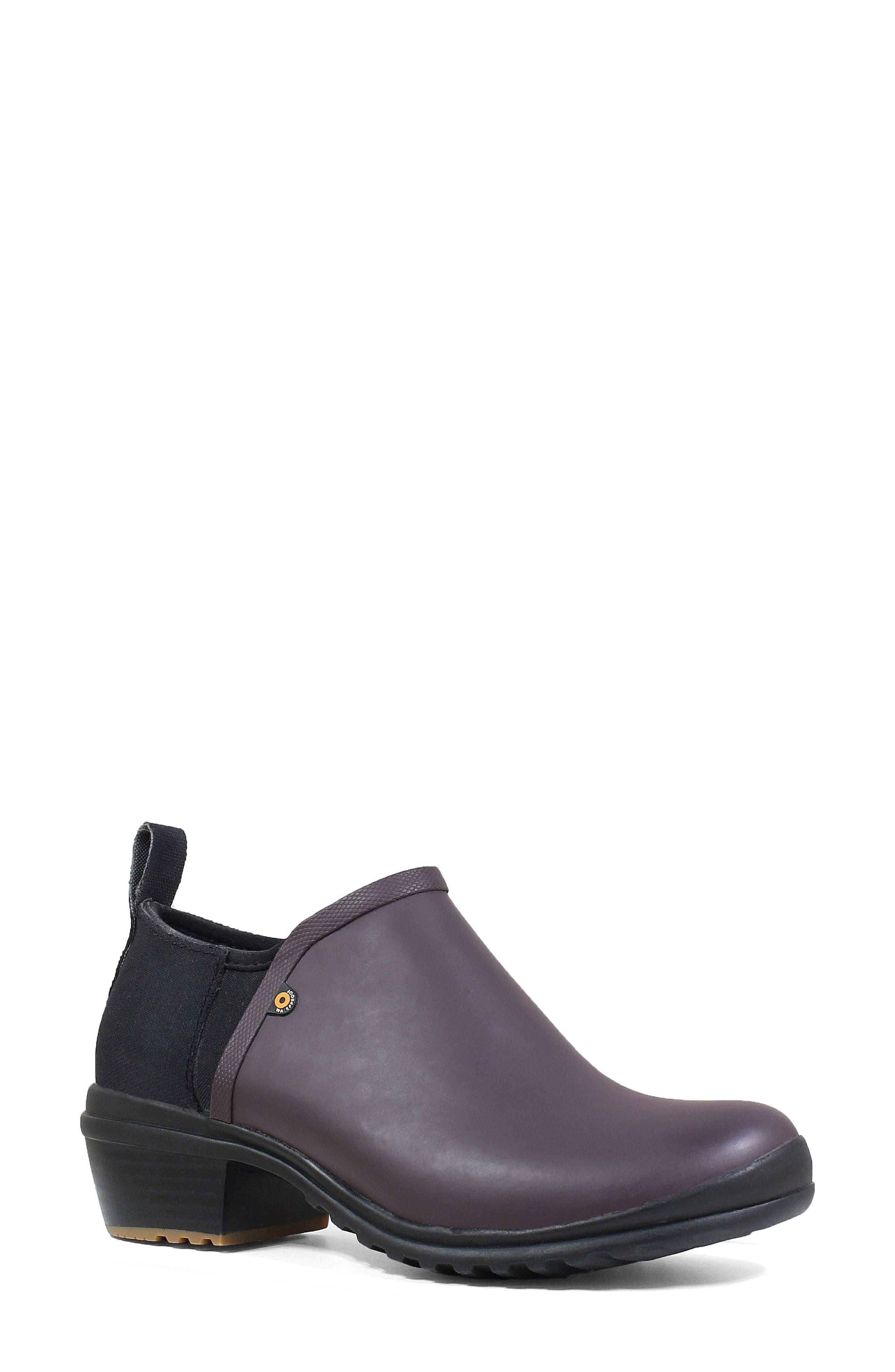 Bogs Vista Rain Ankle Waterproof Boot, Purple