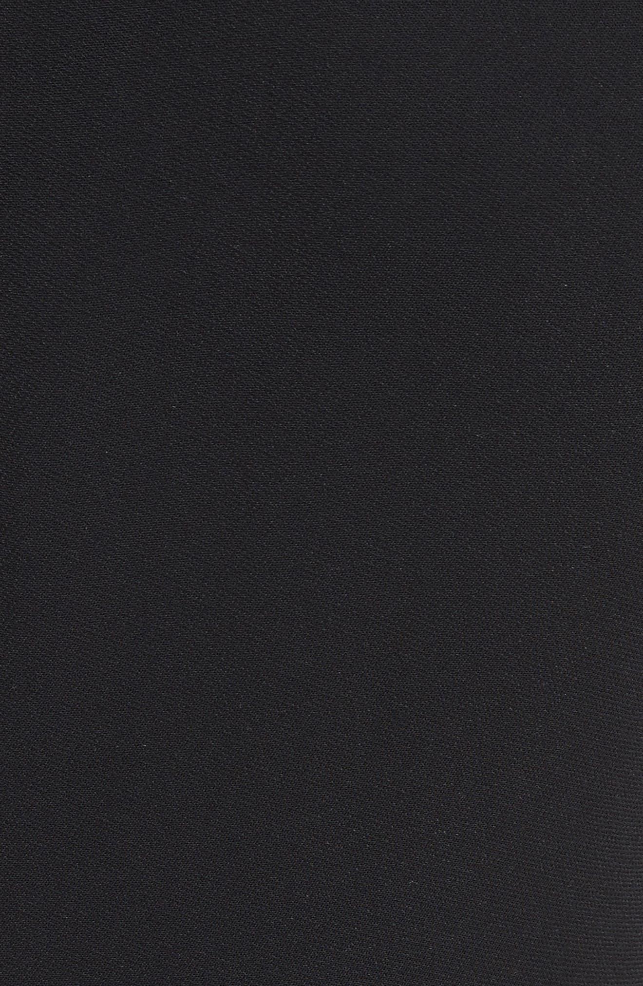 Benni Topstitched Midi Dress,                             Alternate thumbnail 5, color,                             001