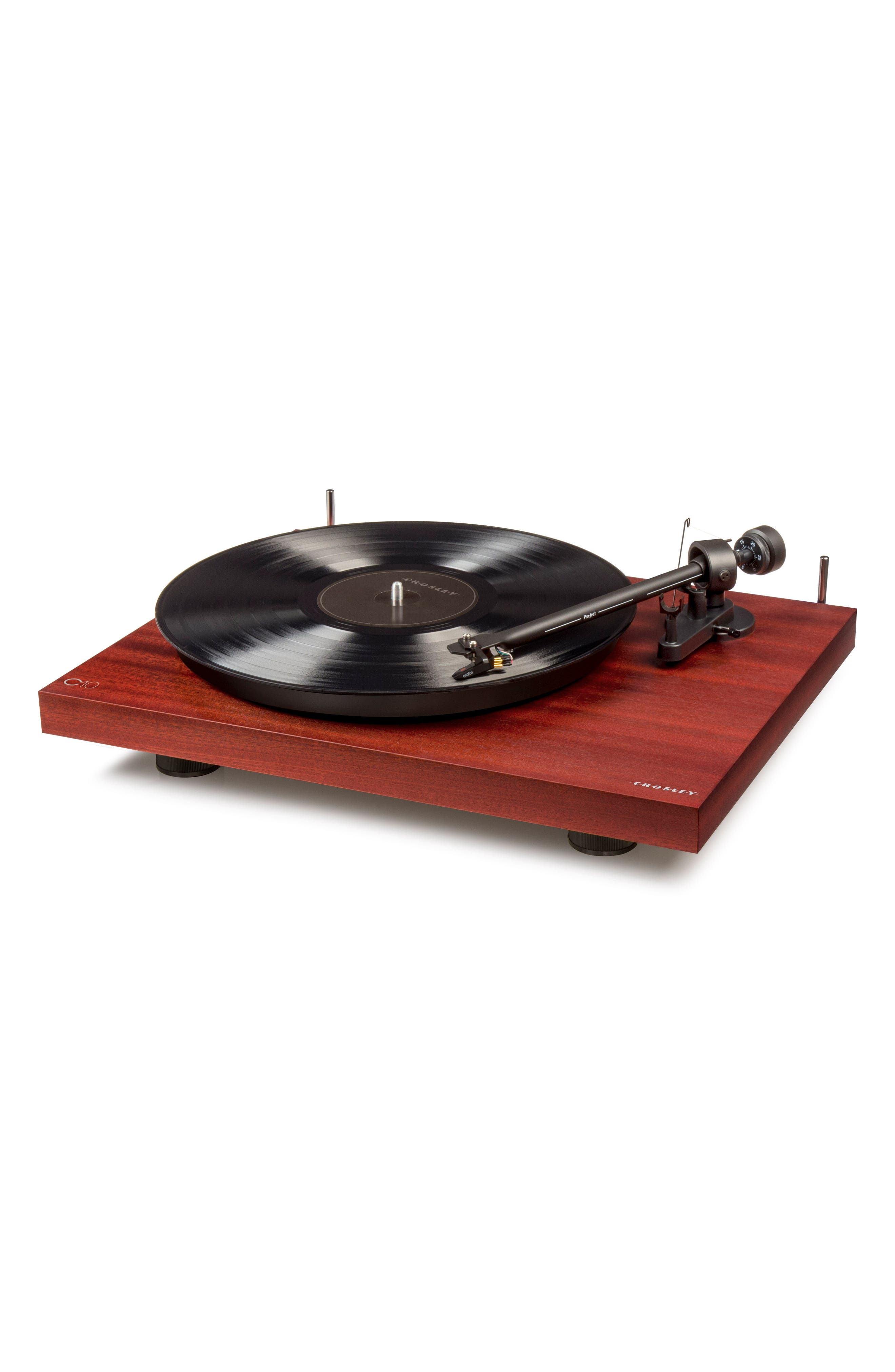 C10 Two-Speed Manual Turntable,                             Alternate thumbnail 2, color,                             MAHOGANY