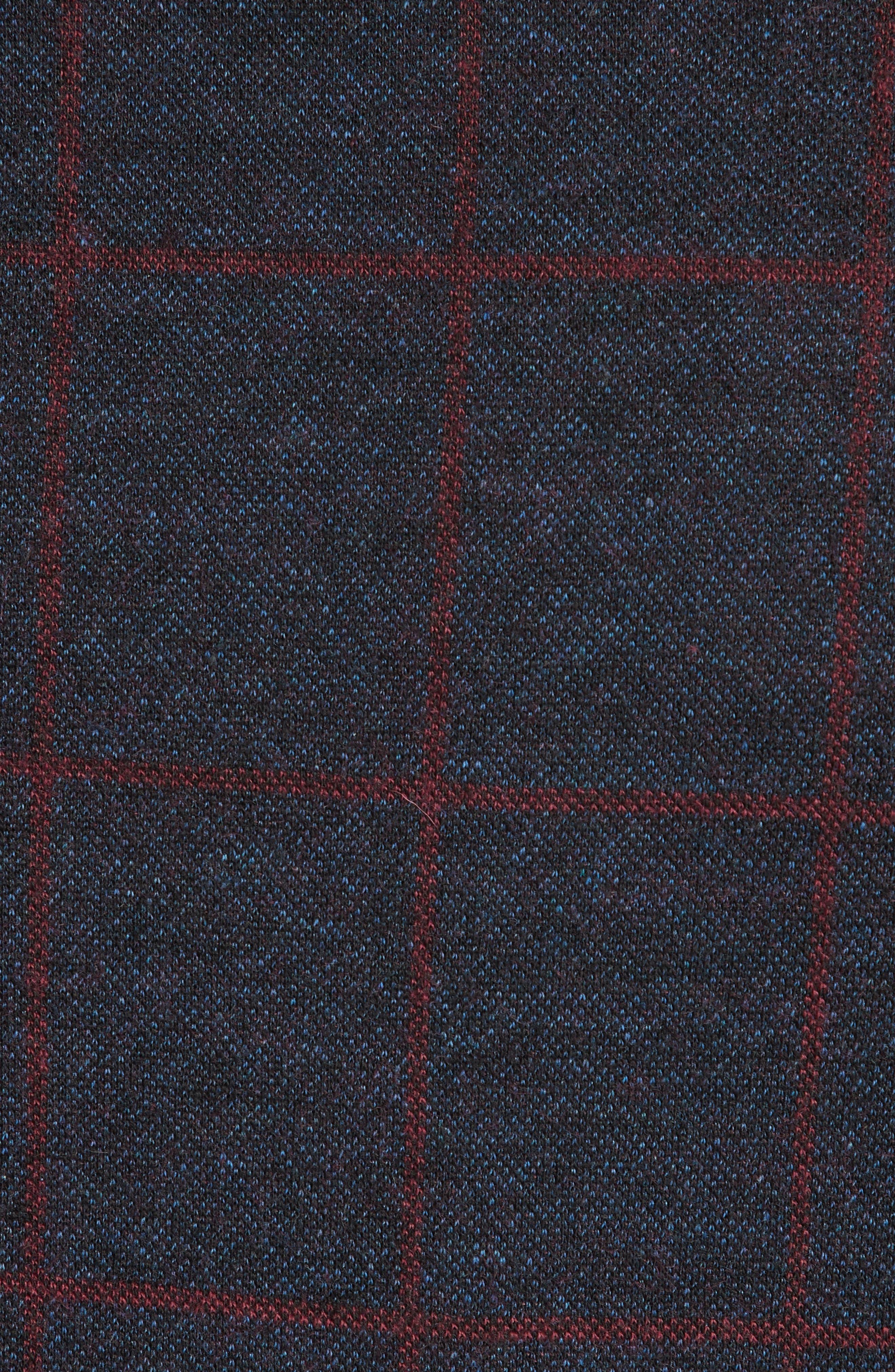 Trim Fit Windowpane Cotton Blend Sport Coat,                             Alternate thumbnail 6, color,                             BLUE MULTI