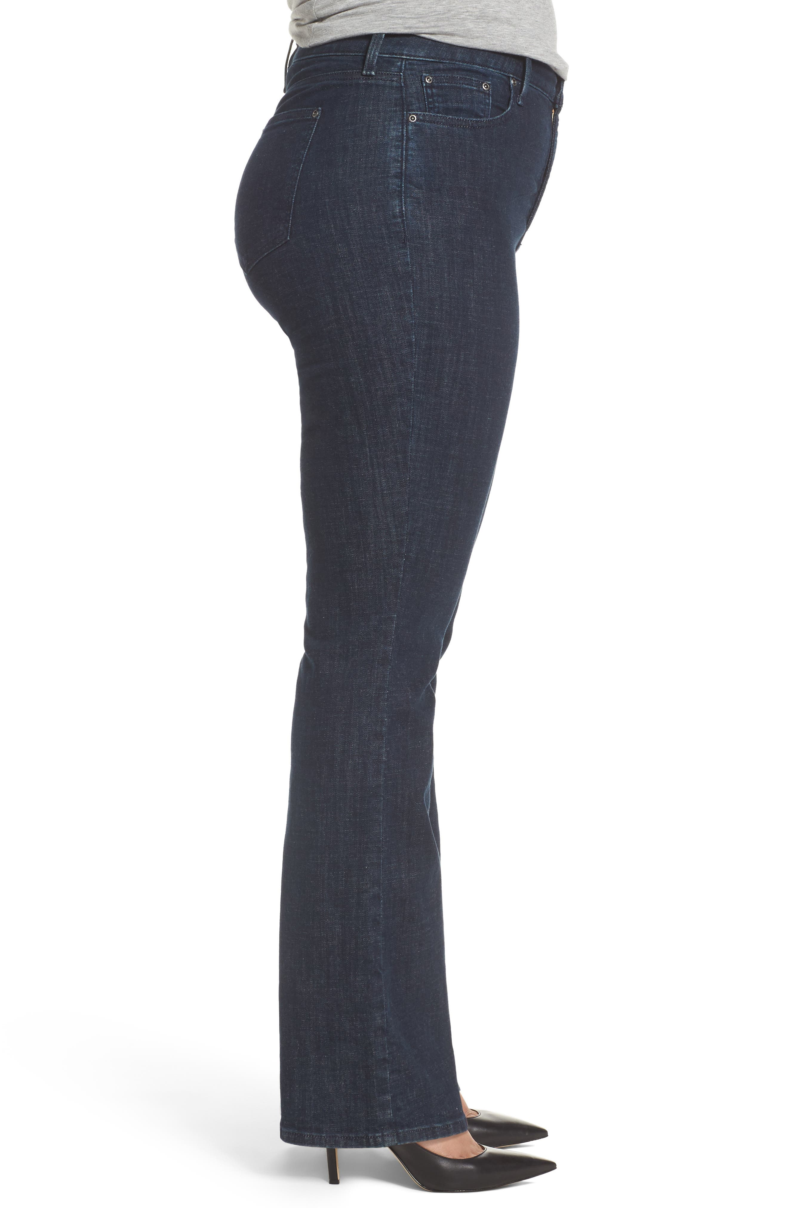 Barbara Stretch Bootcut Jeans,                             Alternate thumbnail 3, color,
