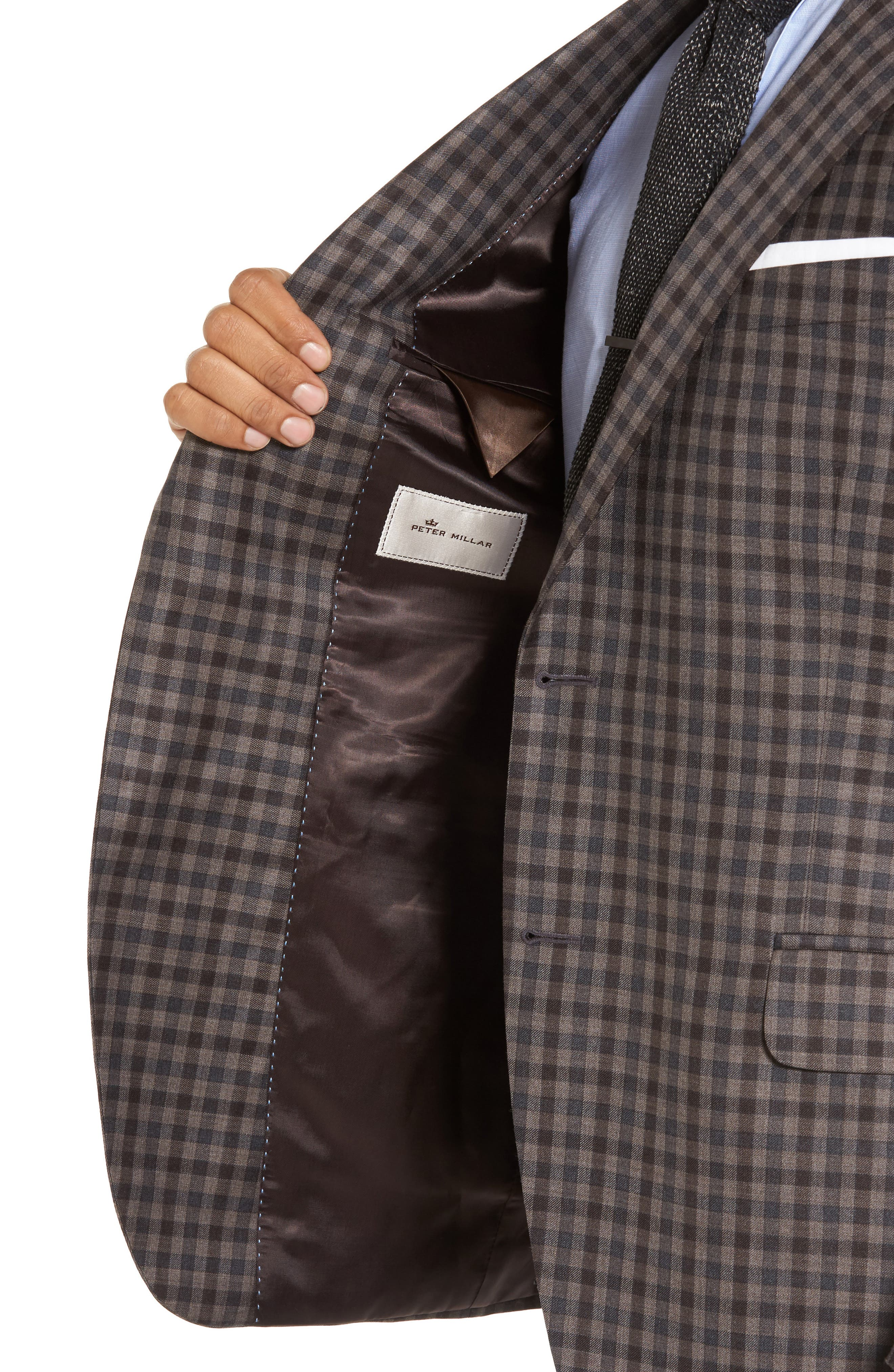 Flynn Classic Fit Check Wool Sport Coat,                             Alternate thumbnail 4, color,                             200