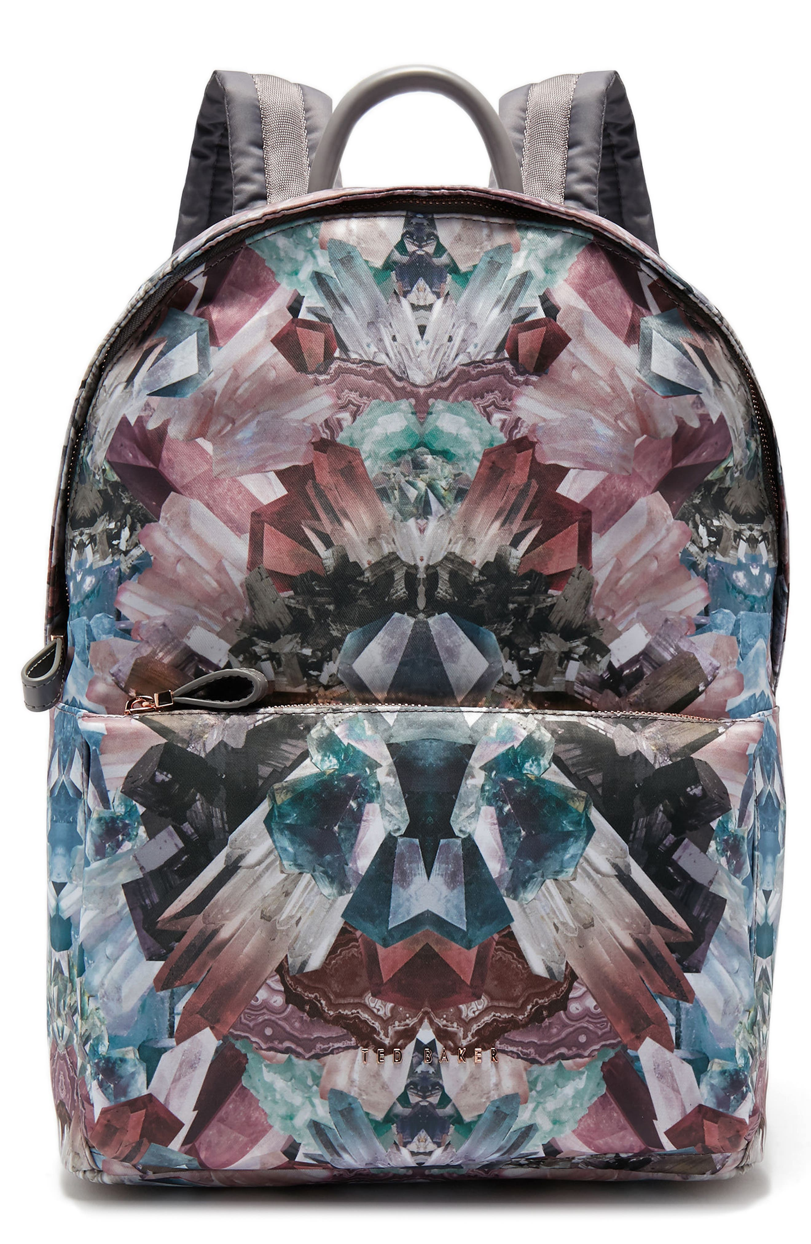 Minerals Print Backpack,                         Main,                         color, 021