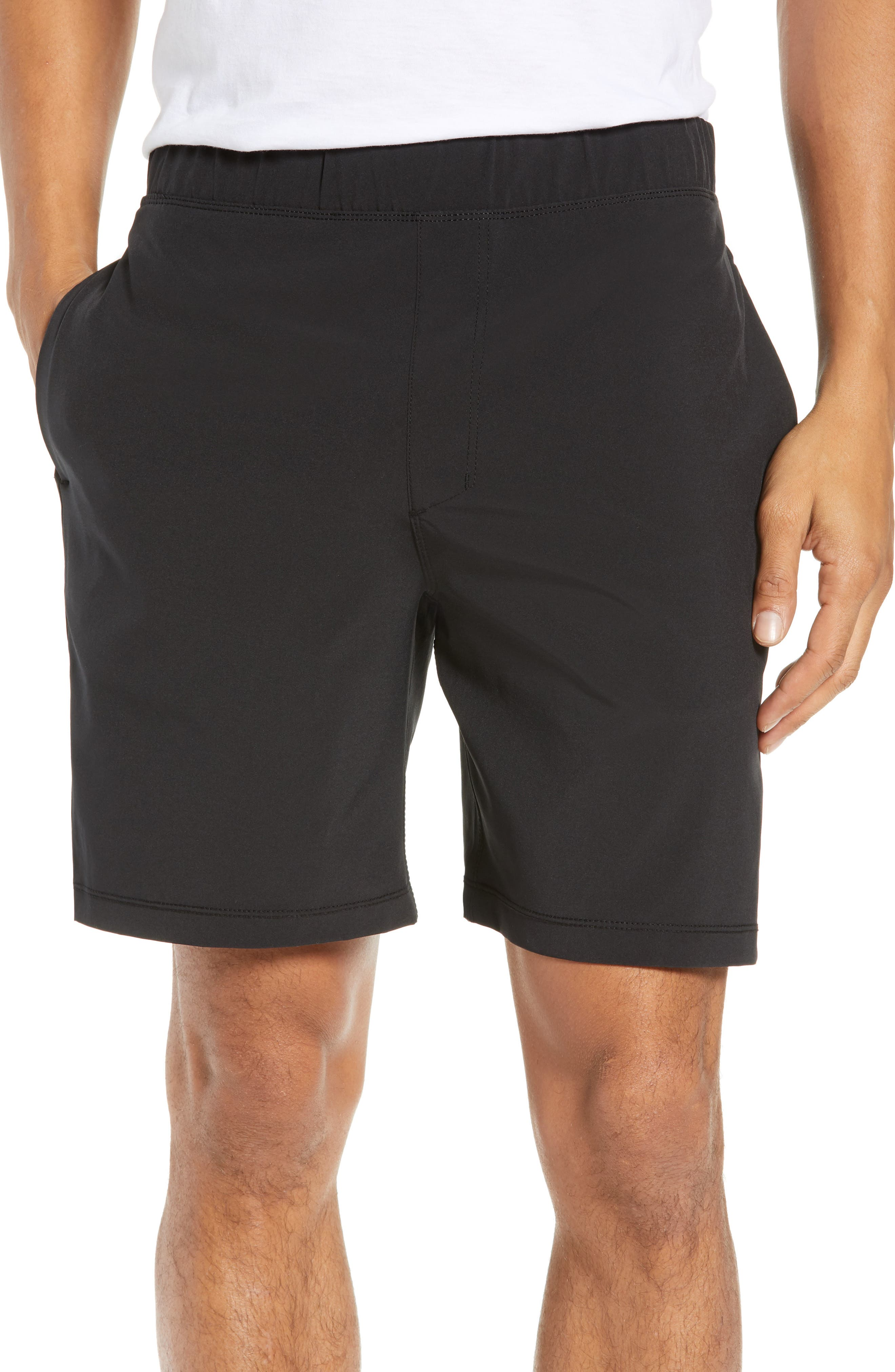 Alpha Trainer 2.0 Recycled Polyester Shorts,                             Main thumbnail 1, color,                             BLACK