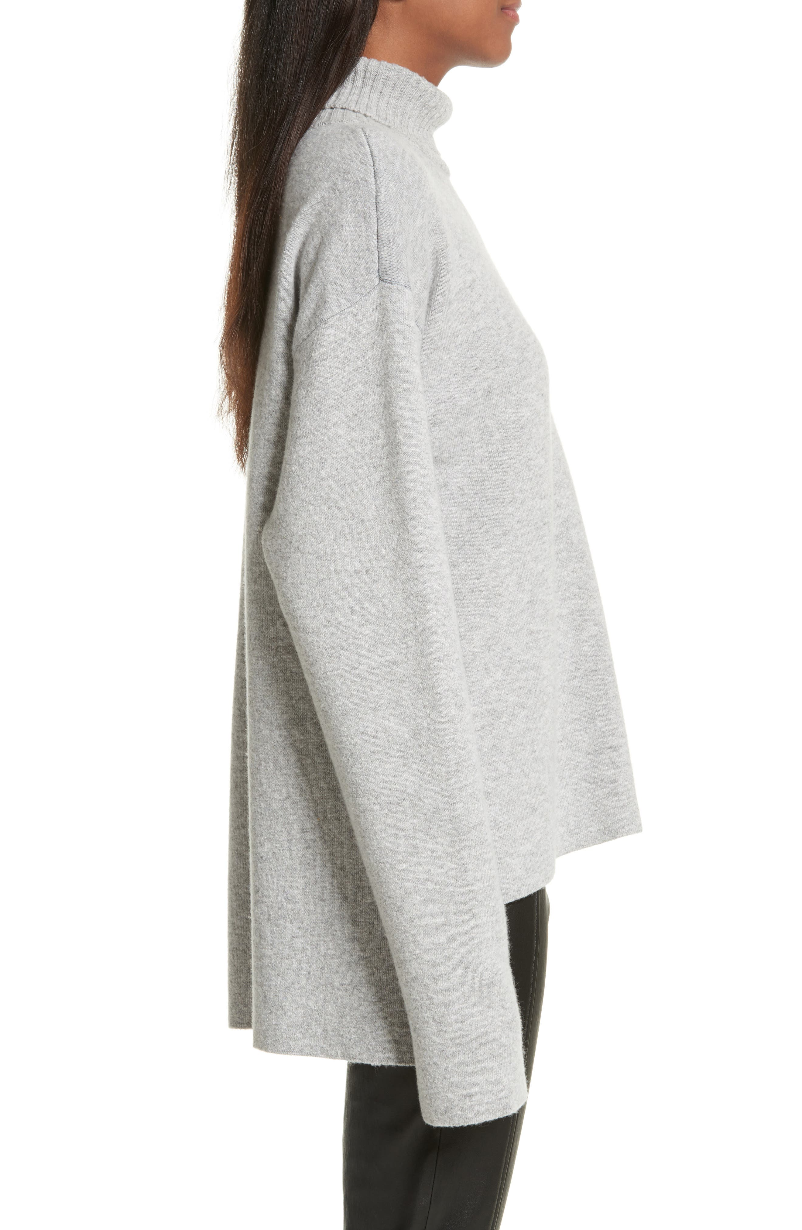 Double-Face Wool Blend Pocket Sweater,                             Alternate thumbnail 3, color,                             477